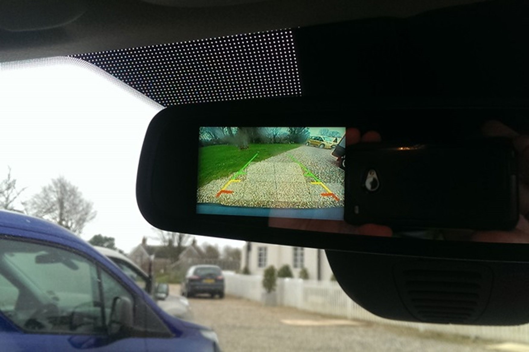Ford Transit Connect review - 2013 Trend rear view camera in mirror