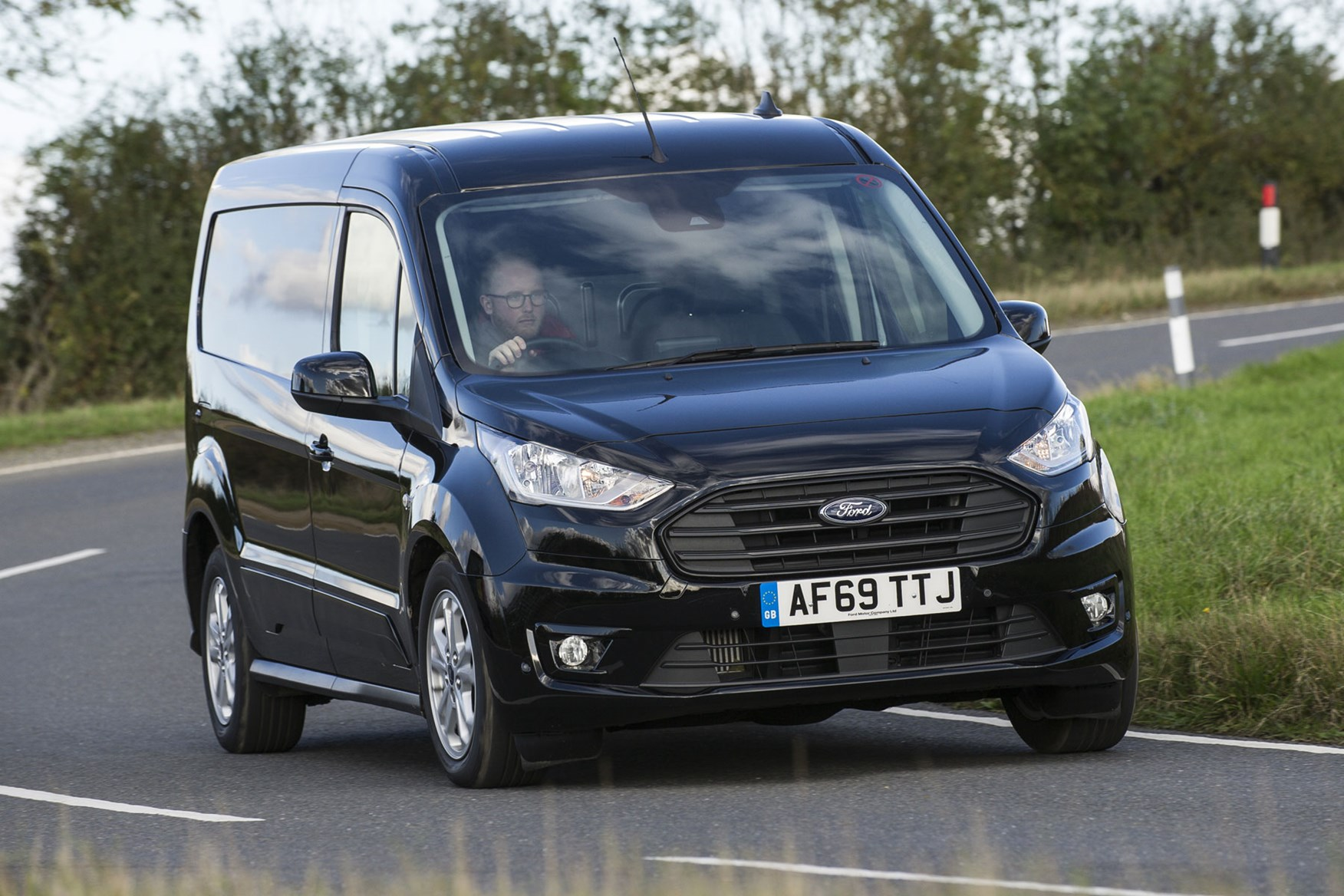 Ford Transit Connect automatic review - front view, driving, black, L2, 2019