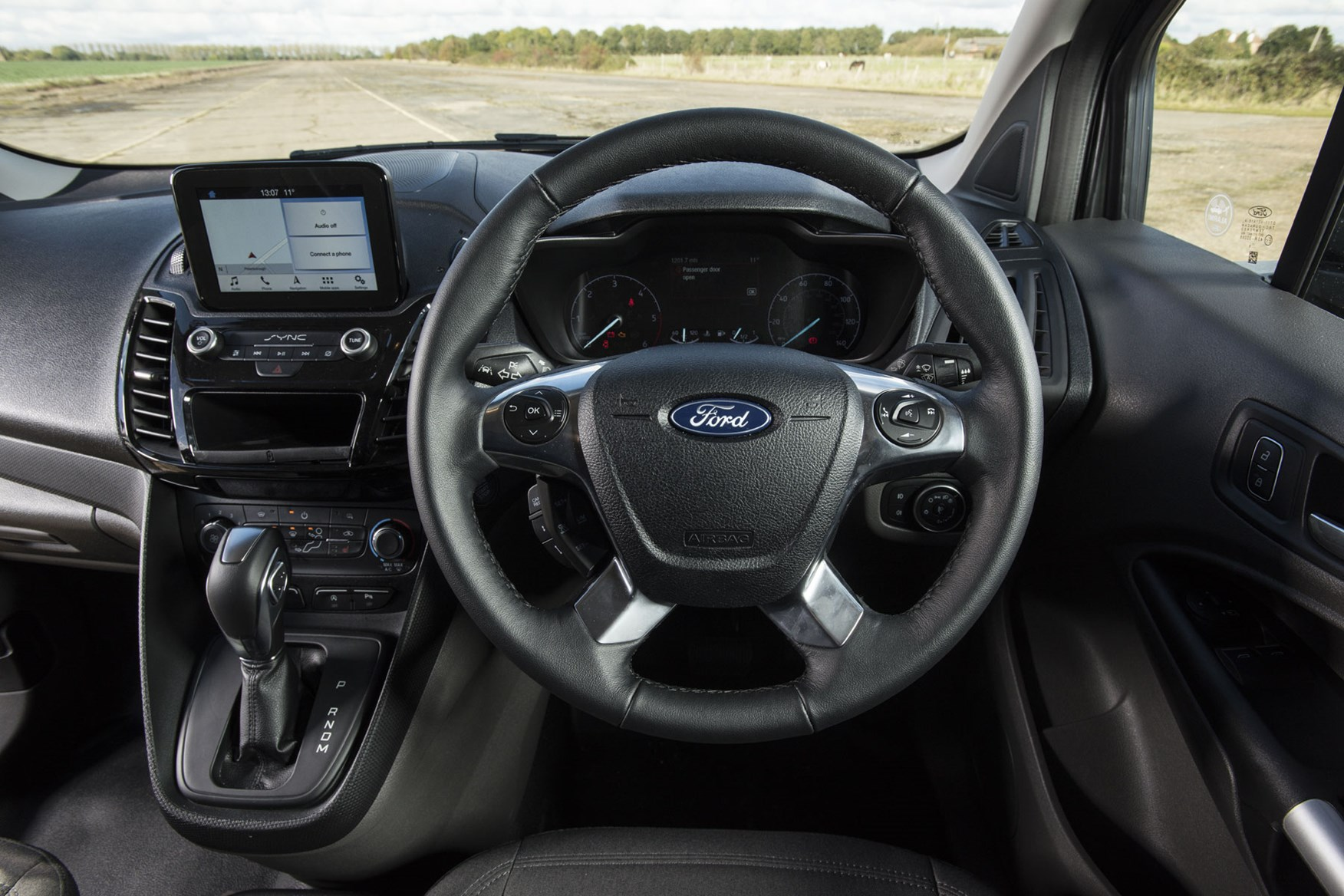 Ford Transit Connect automatic review - cab interior, steering wheel, 2019