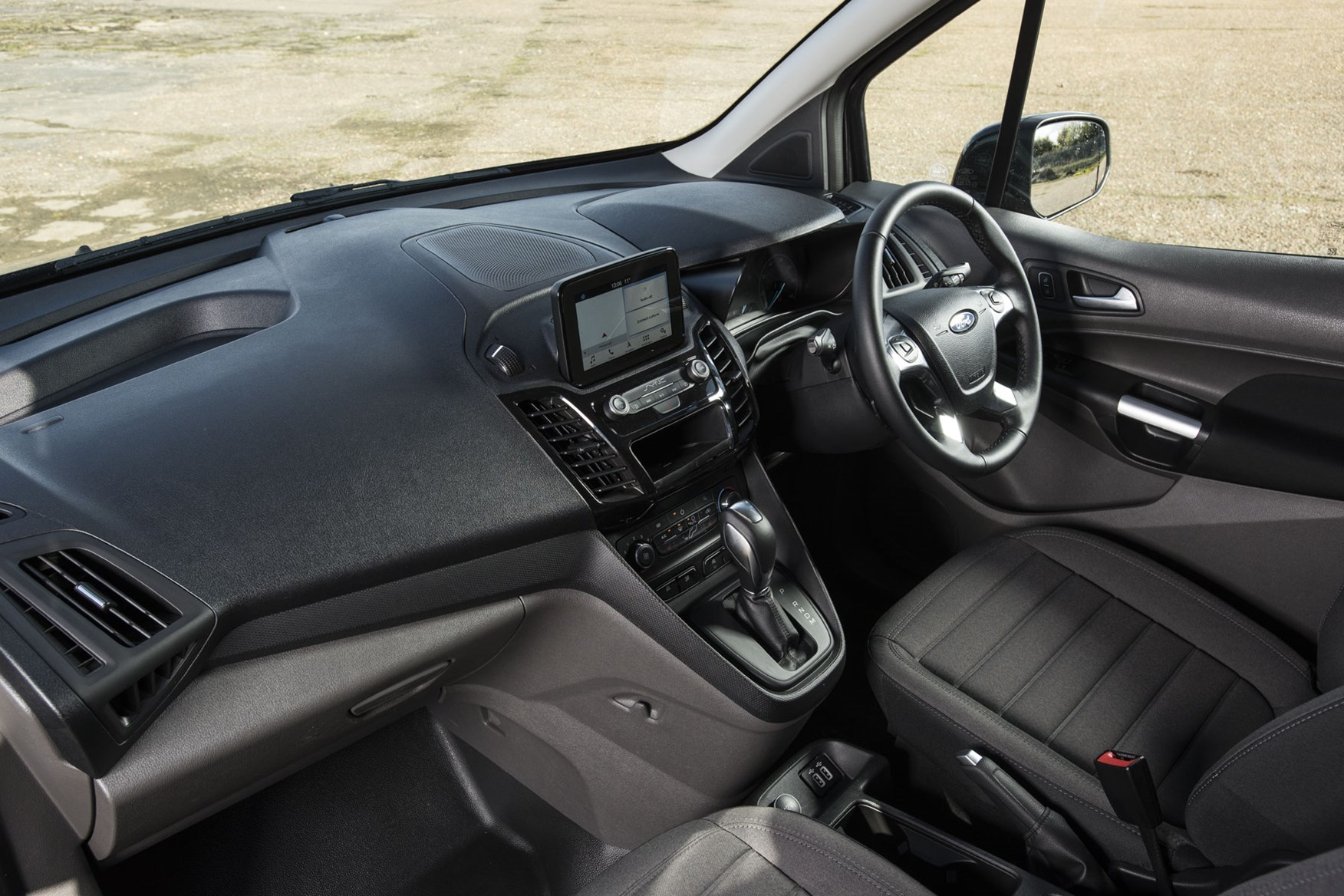 Ford Transit Connect automatic review - cab interior, wide view, 2019