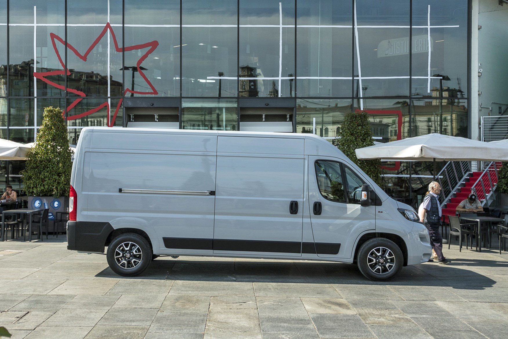 Fiat Ducato review - 2019 MY20, side view, silver
