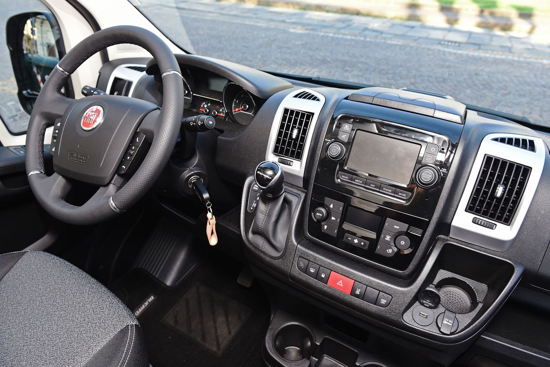 Fiat Ducato review - 2019 MY20 cab interior, infotainment