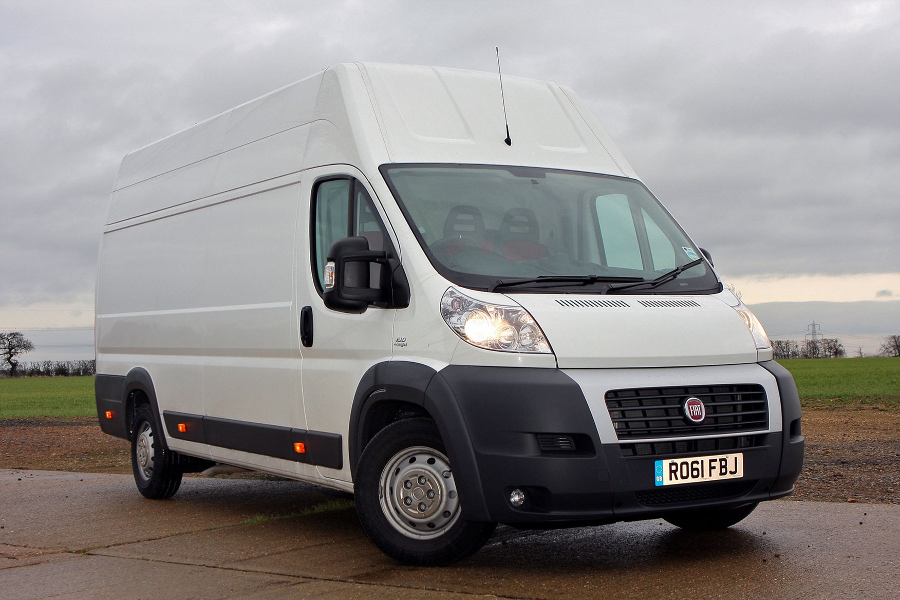Fiat Ducato review - 2011, white, front view, lights on
