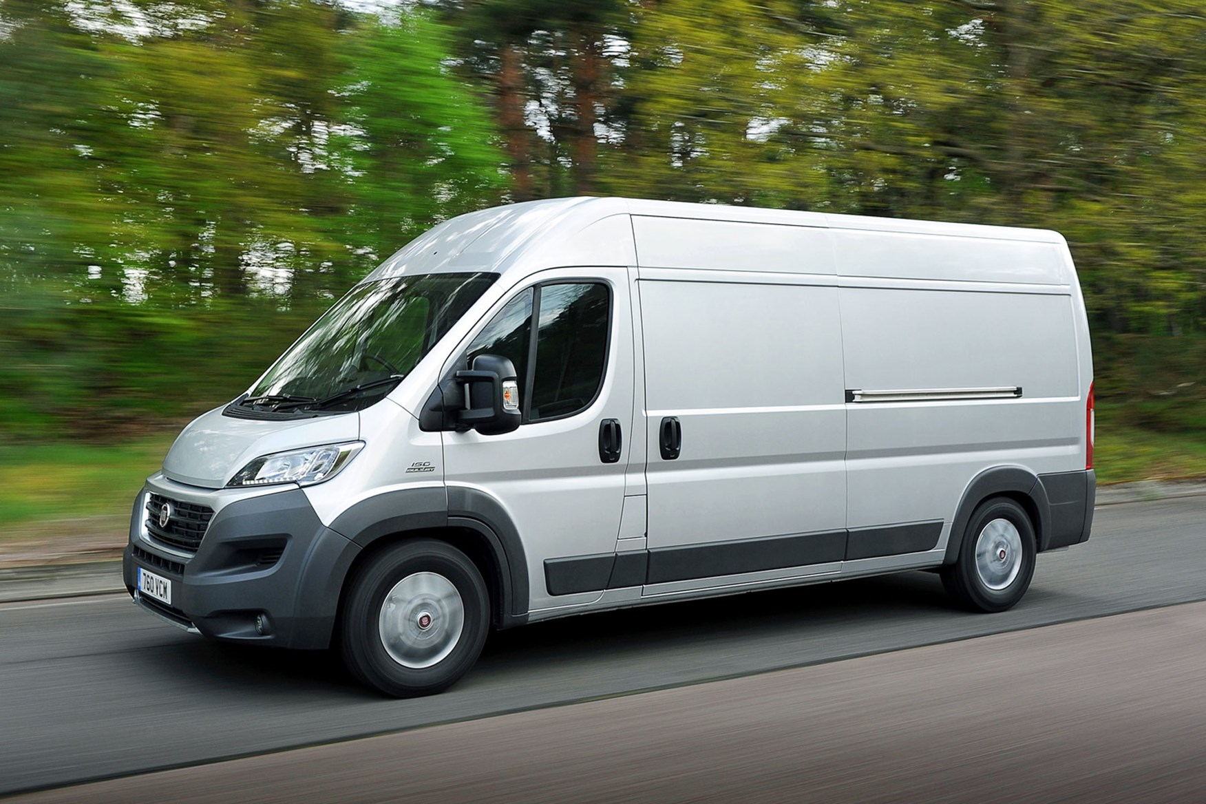 Fiat Ducato review - 2014 facelift, silver, side view, driving