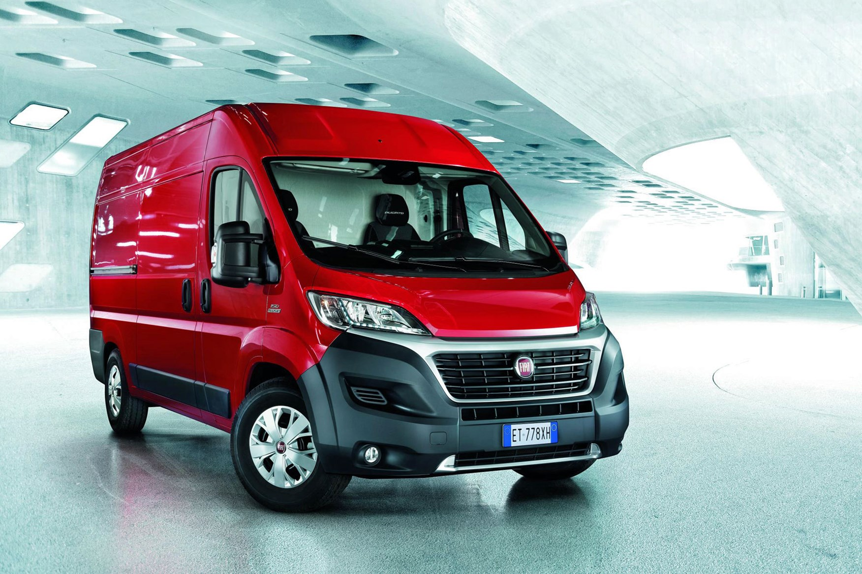 Fiat Ducato review - 2016 Euro 6 engines, front view, red