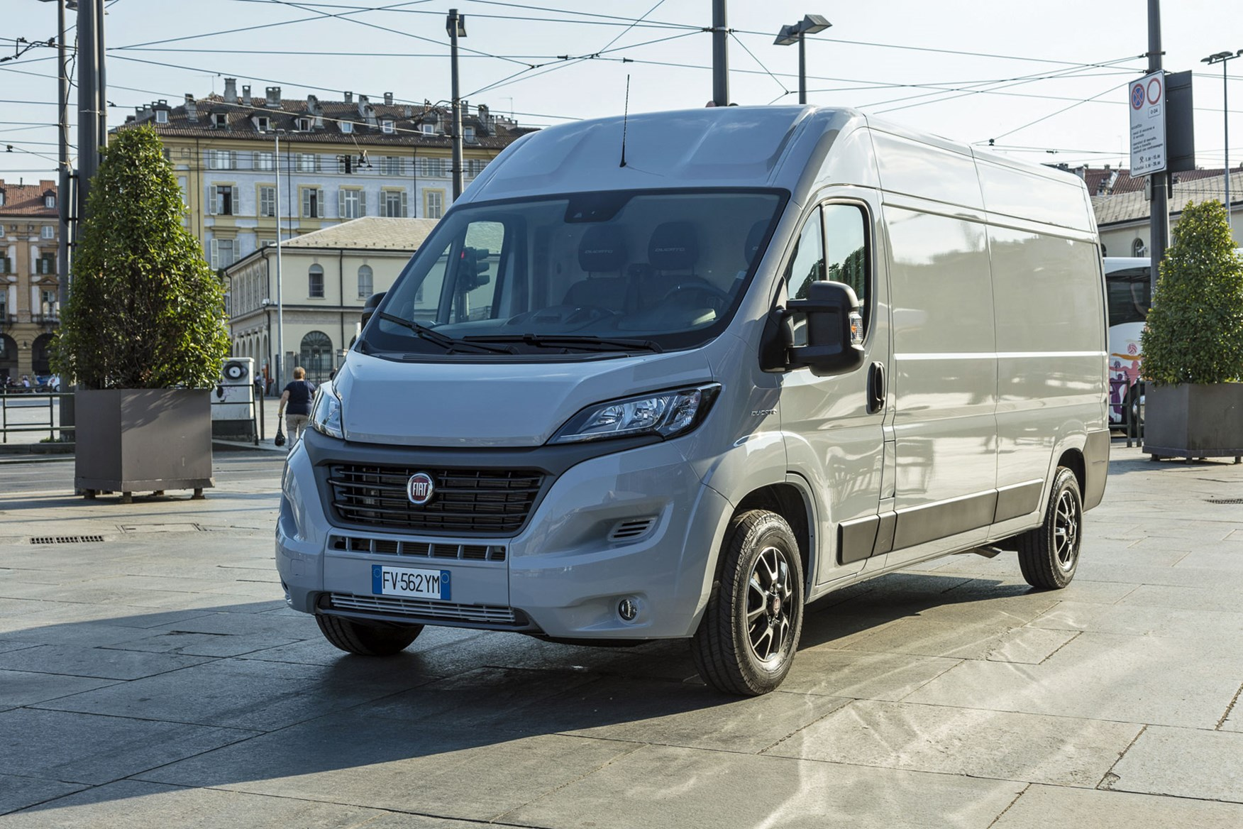 Fiat Ducato review - 2019 MY20 engines, front view, silver