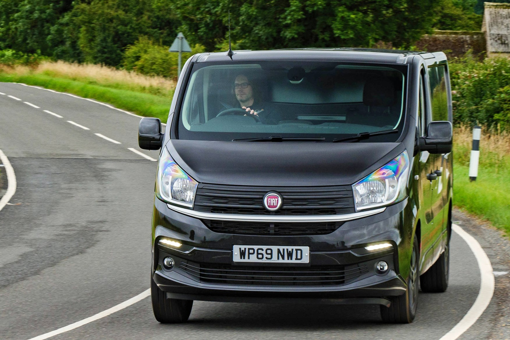 Fiat Talento review, 2020, front view, Sportivo, driving round corner
