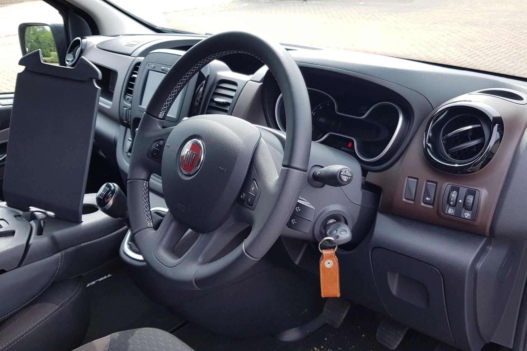 Fiat Talento review, 2020, cab interior, Sportivo, bark brown
