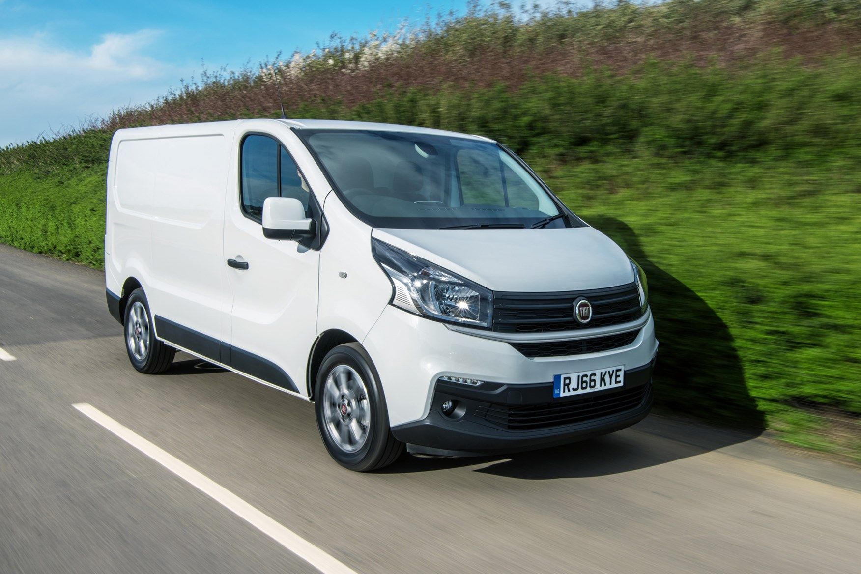 Fiat Talento review, 2020, front view, white, driving