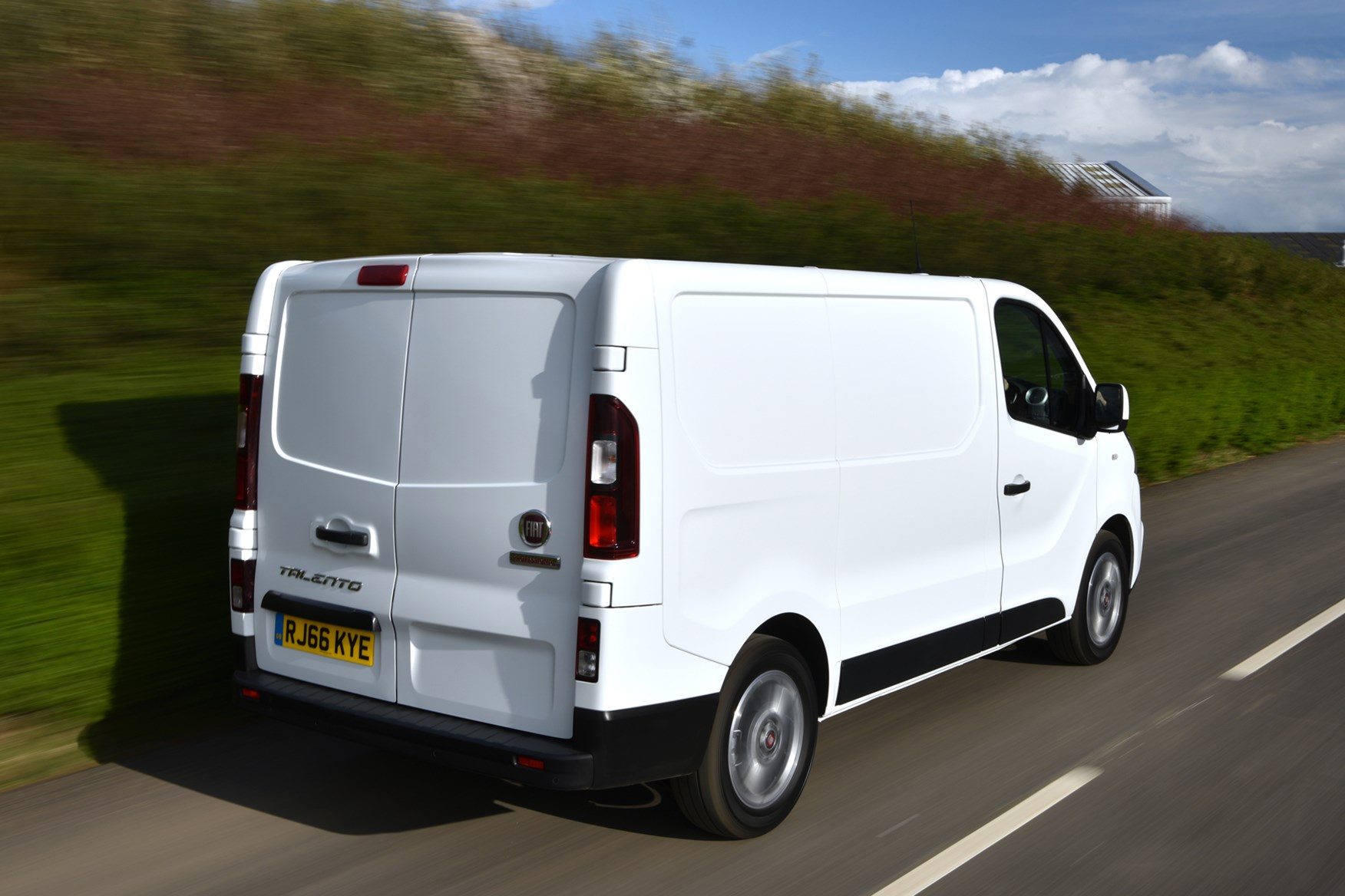 Fiat Talento review, 2020, rear view, white, driving