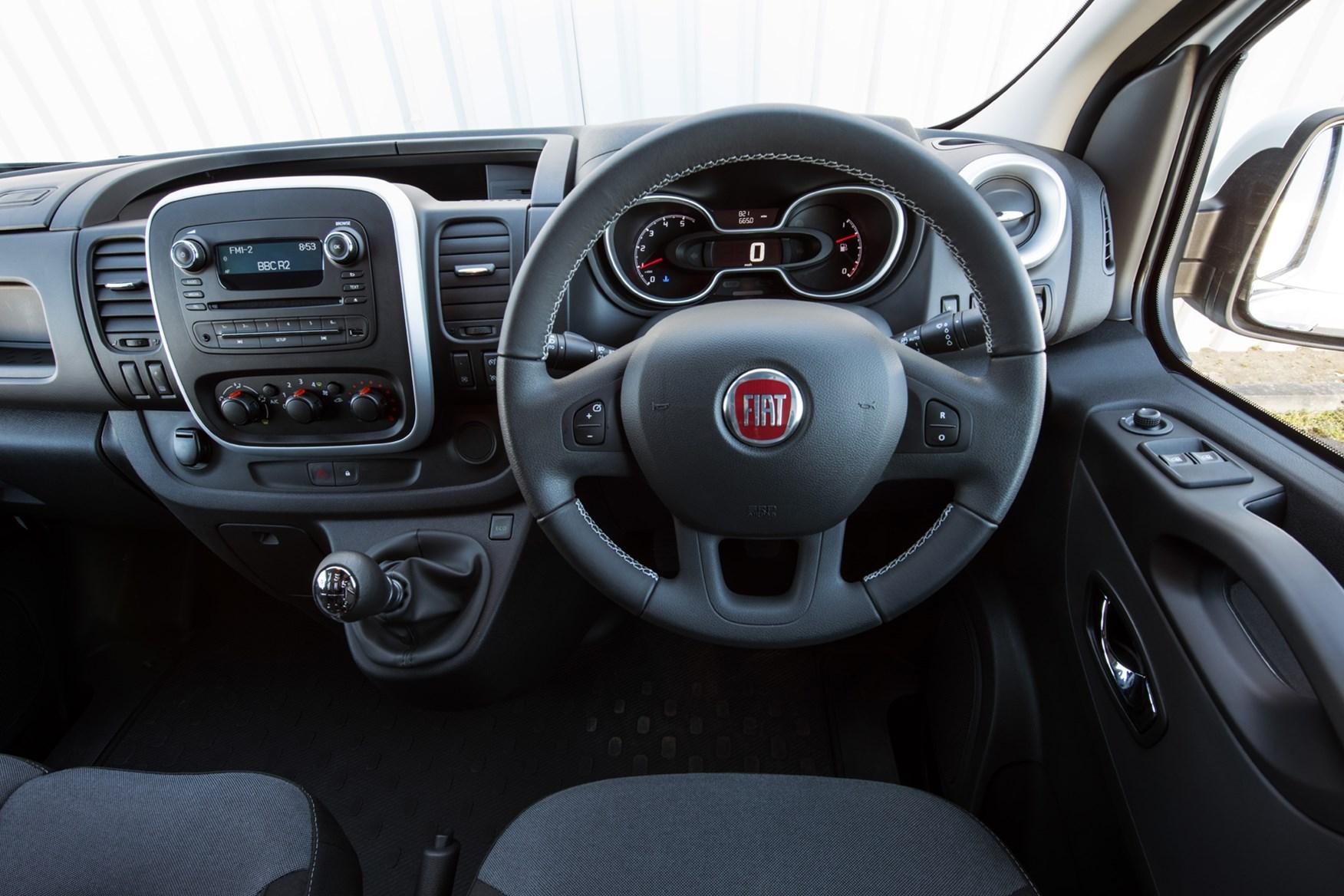 Fiat Talento review, 2020, cab interior, steering wheel