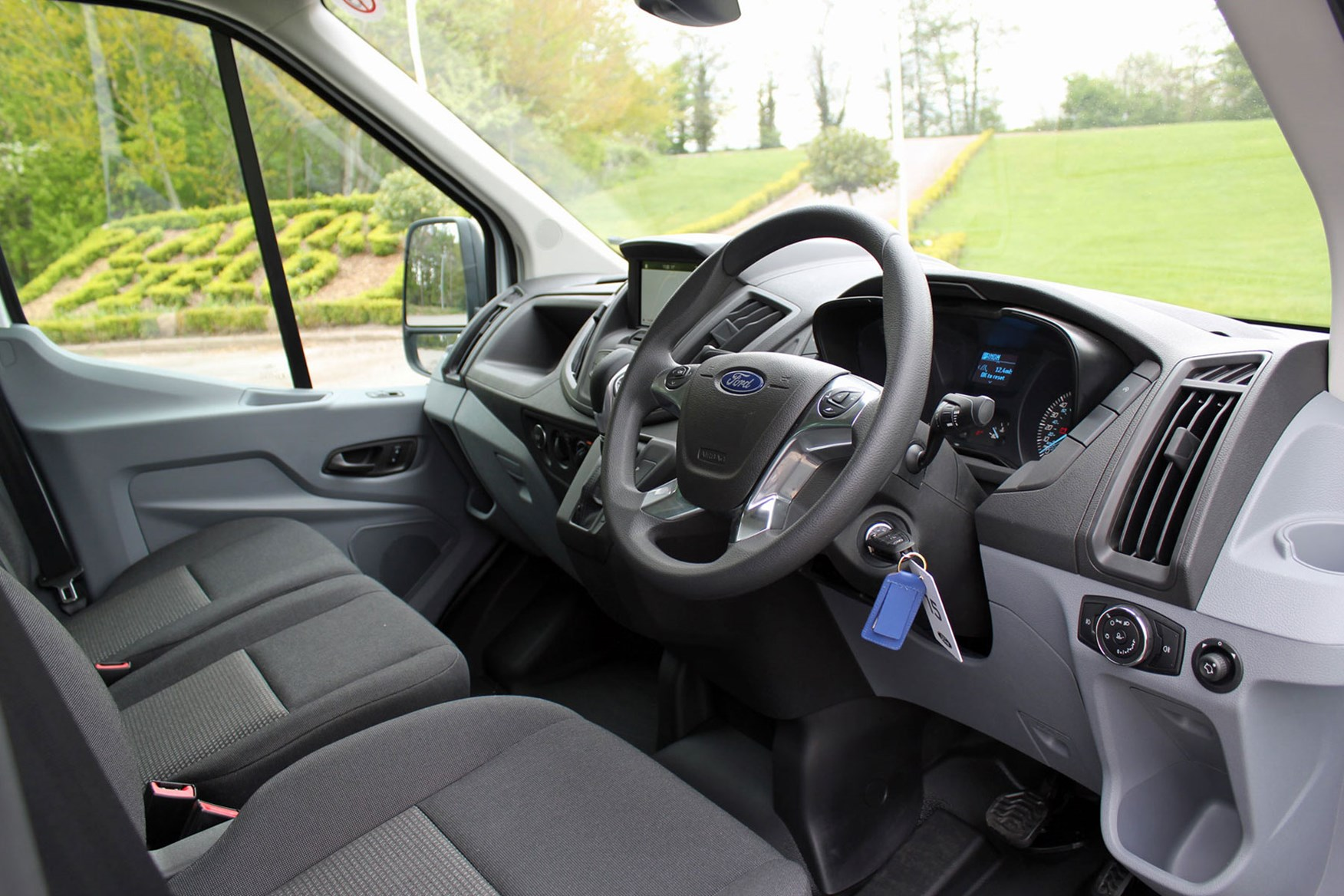 Ford Transit Luton review - steering wheel and cab interior