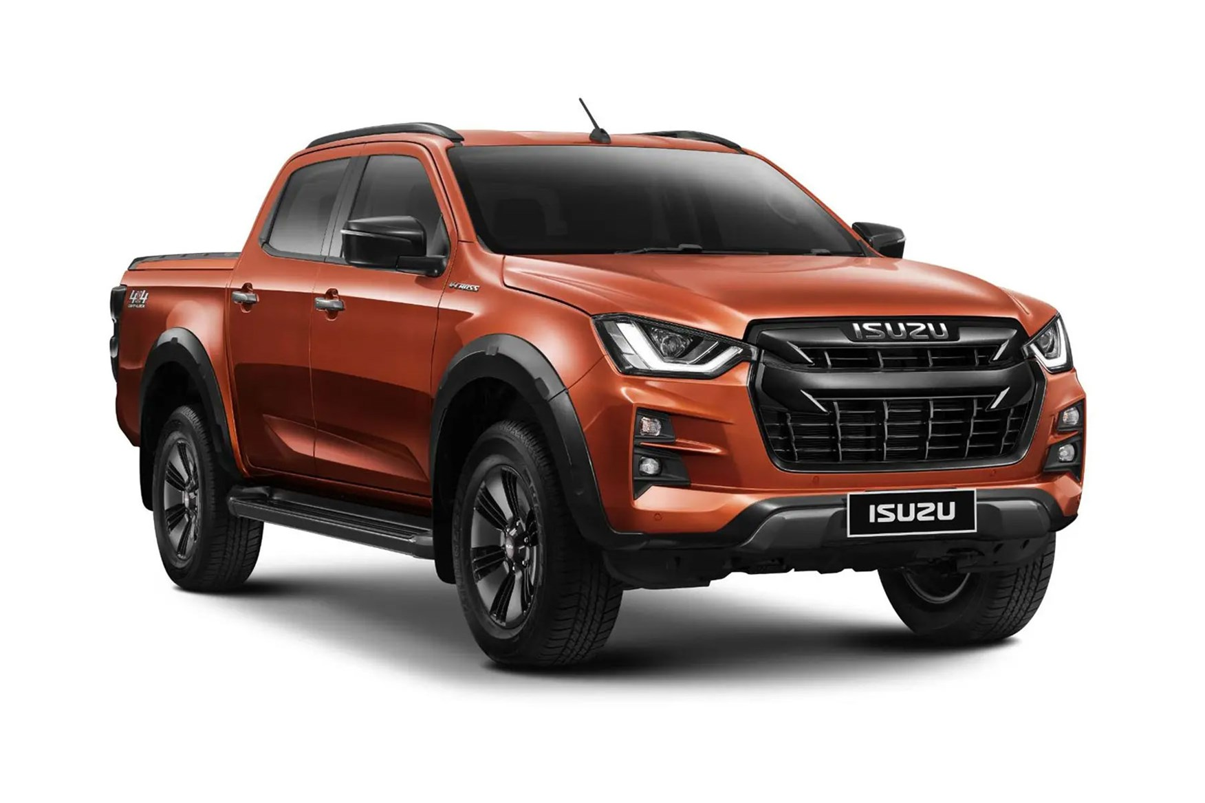 All-new Isuzu D-Max - coming to the UK in 2021, orange, front view