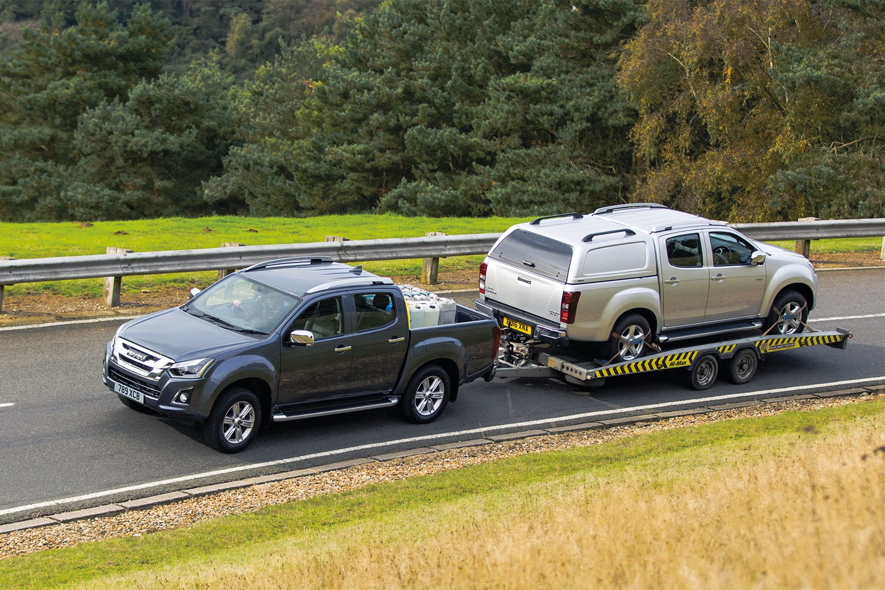 Isuzu D-Max towing capacity - towing another D-Max on a trailer