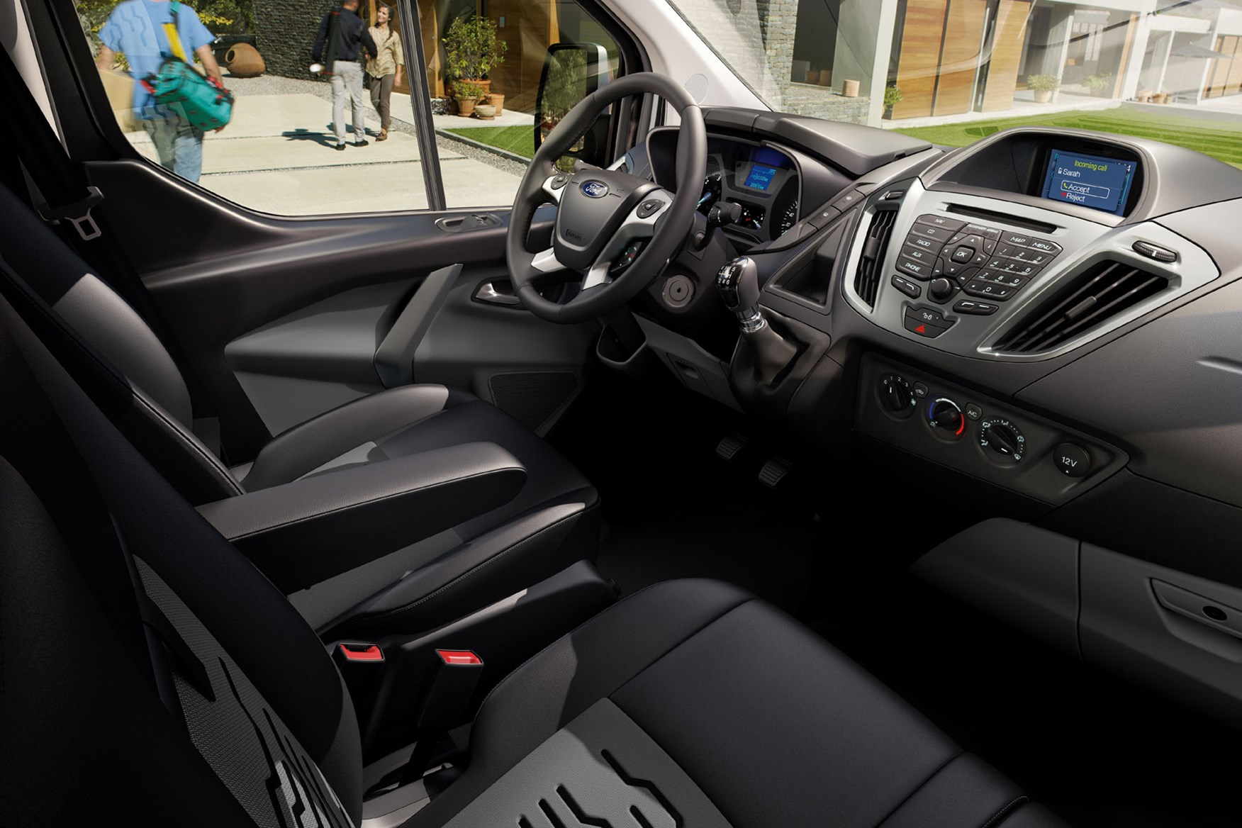 Ford Transit Custom review - 2012 pre-facelift cab interior