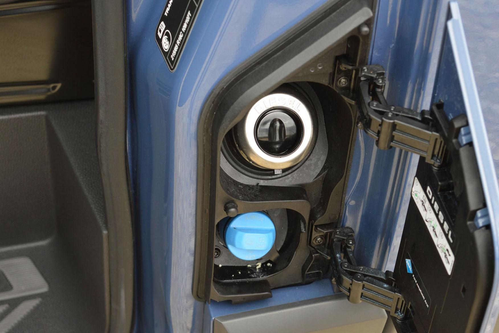 Ford Transit Custom AdBlue filler