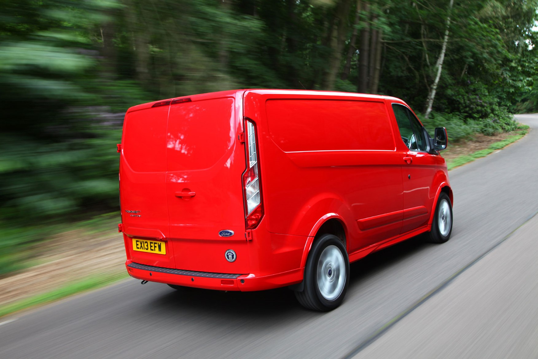 Ford Transit Custom Sport Euro 5 driving rear view