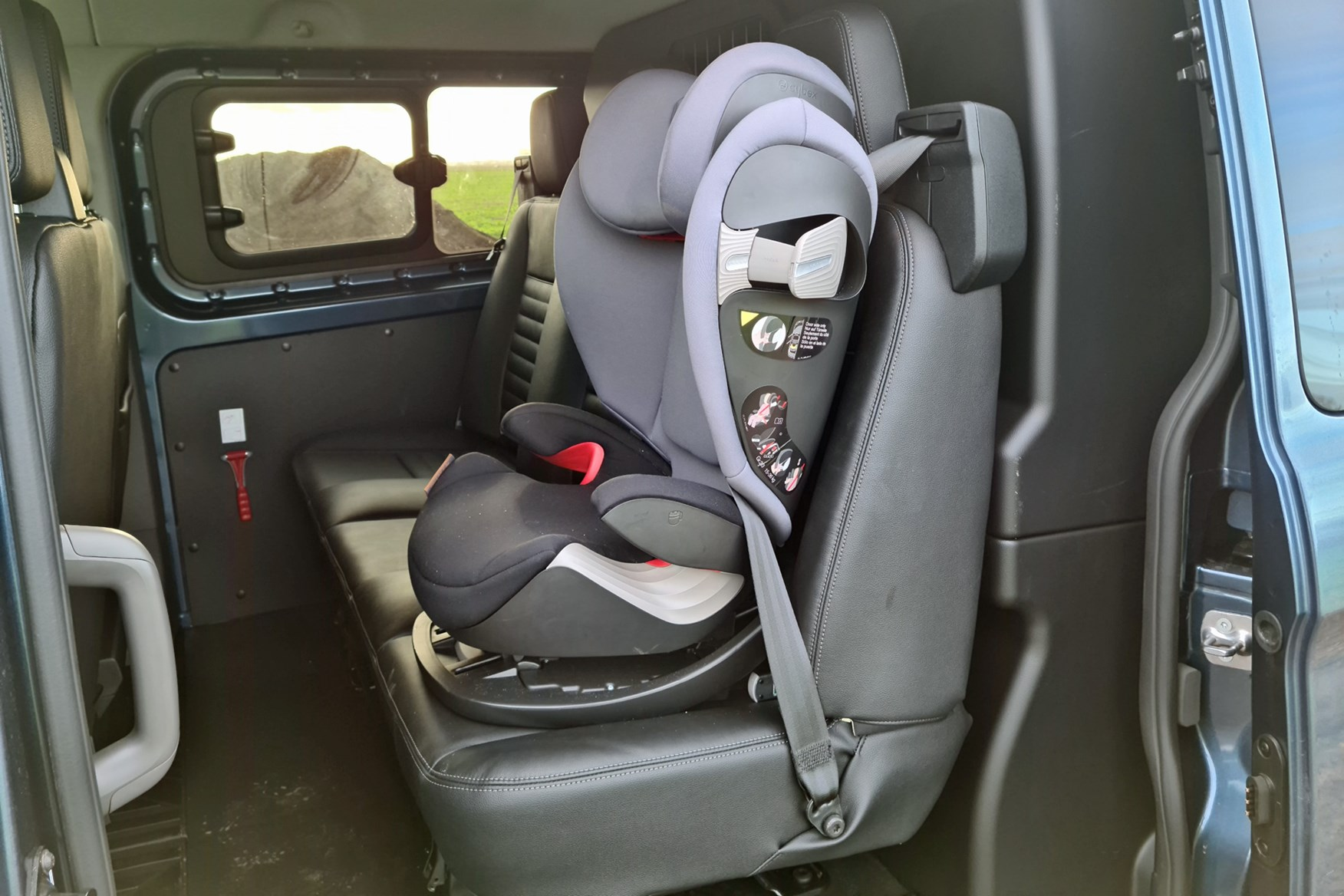 Ford Transit Custom Trail review, L2, DCiV, 2020, rear seats with child seat and Isofix