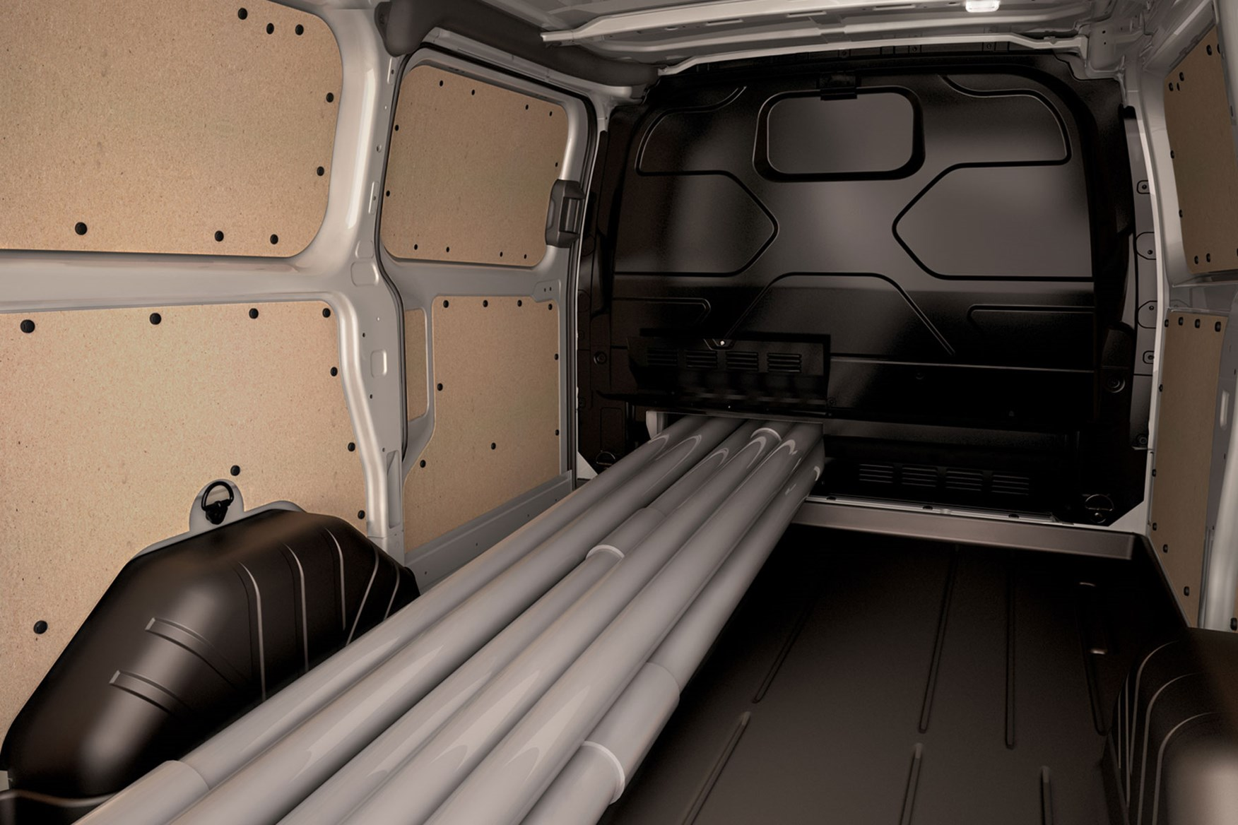 Ford Transit Custom dimensions - load through bulkhead