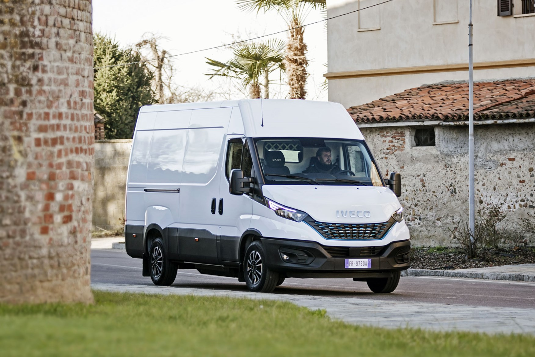 Iveco Daily 2019 - driving, front view, white