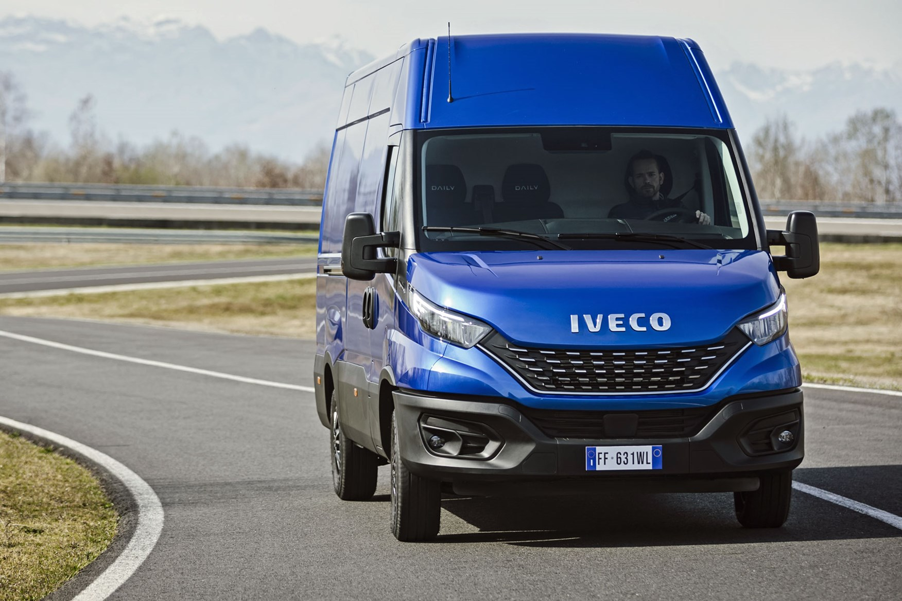 Iveco Daily 2019 review - panel van, blue, front view, driving