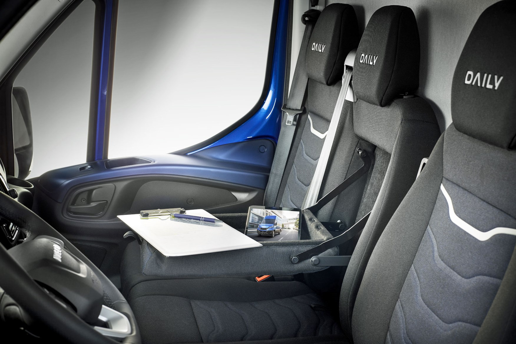 Iveco Daily 2019 review - seats and fold down desk