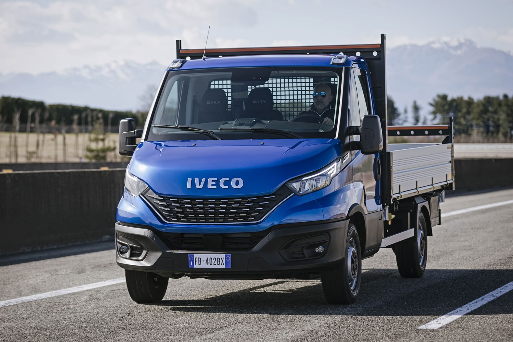 Iveco Daily 2019 review - tipper, driving, front view