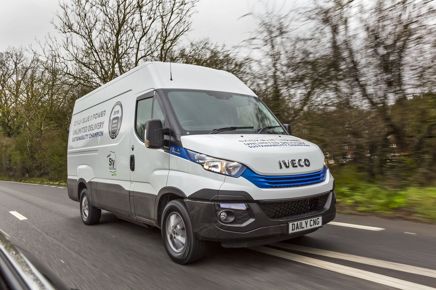Iveco Daily Blue Power, front view, driving