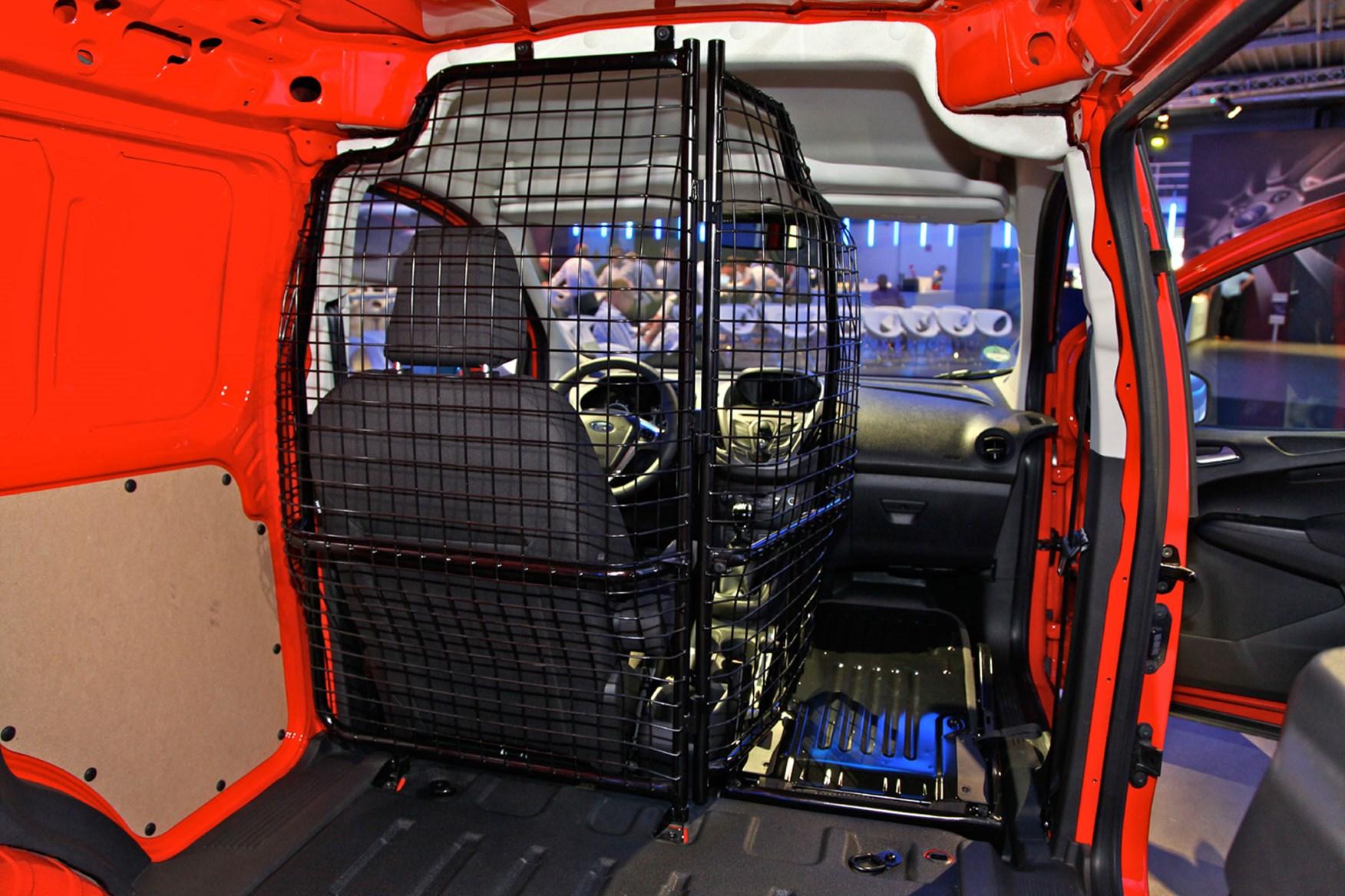 Ford Transit Courier folding mesh bulkhead option