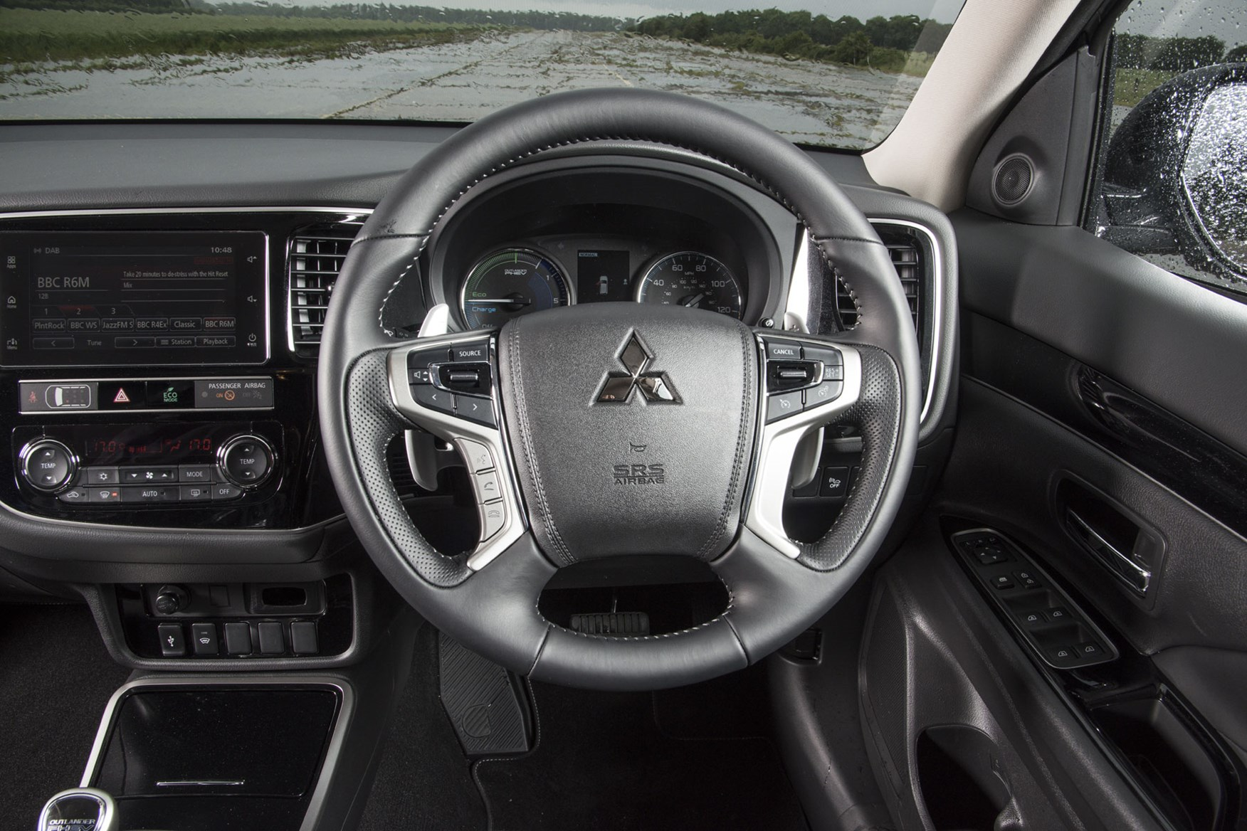 Mitsubishi Outlander Commercial 4x4 van review - steering wheel and instruments