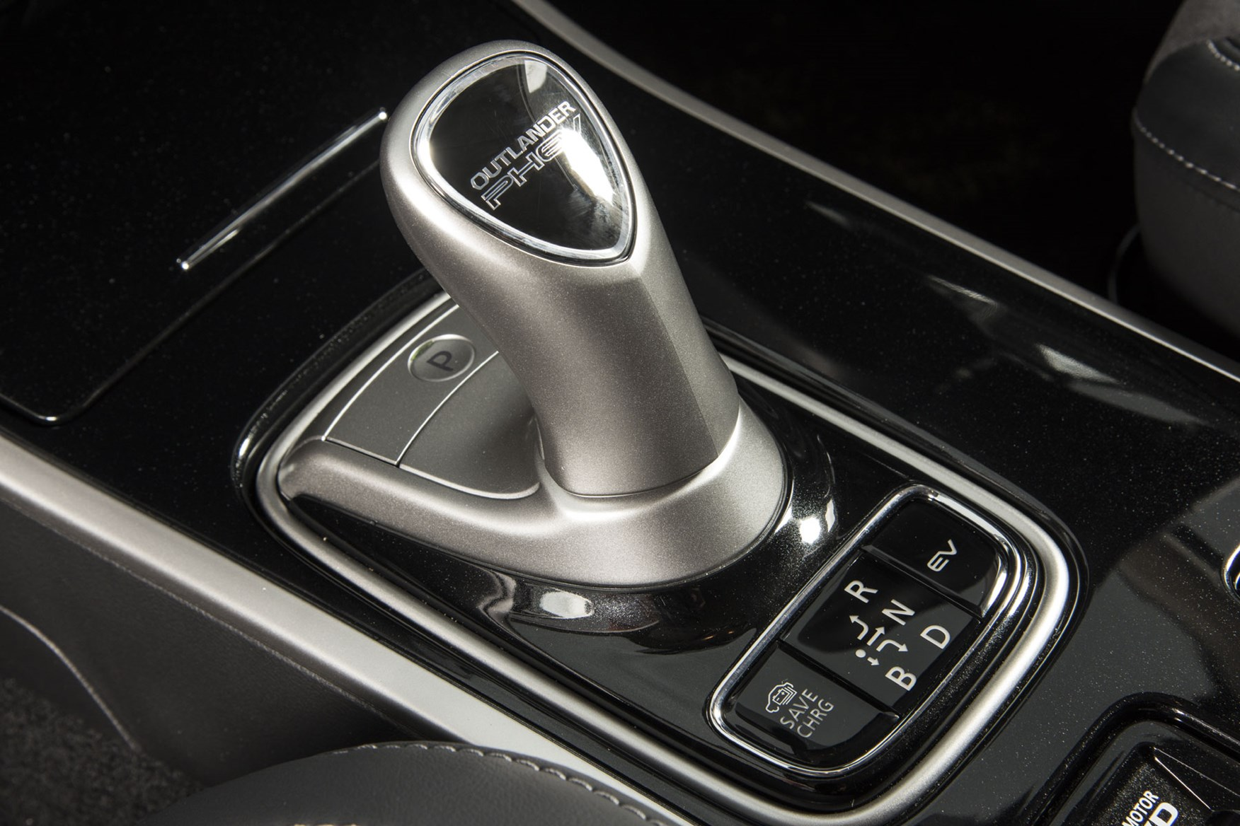 Mitsubishi Outlander Commercial 4x4 van review - 2019 PHEV gear selector