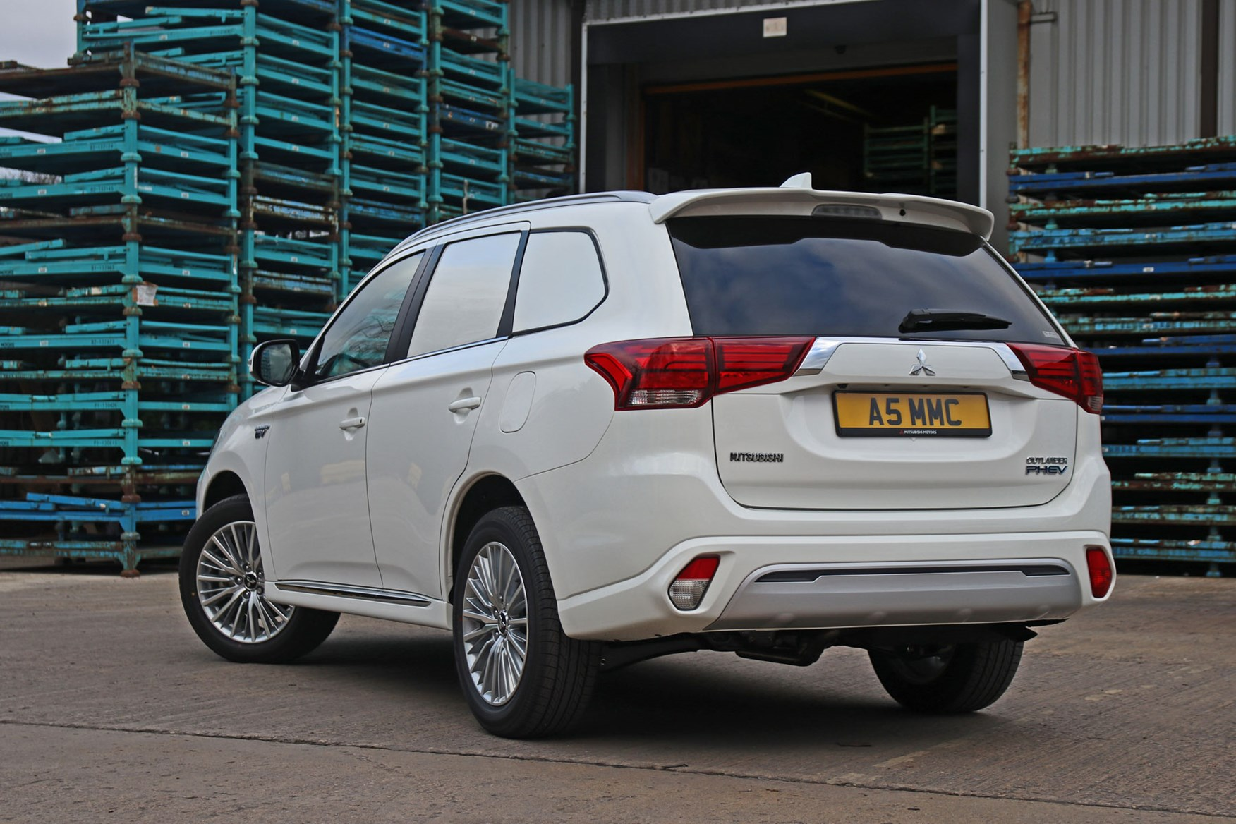 Mitsubishi Outlander Commercial 4x4 van review - 2019 PHEV rear view, white