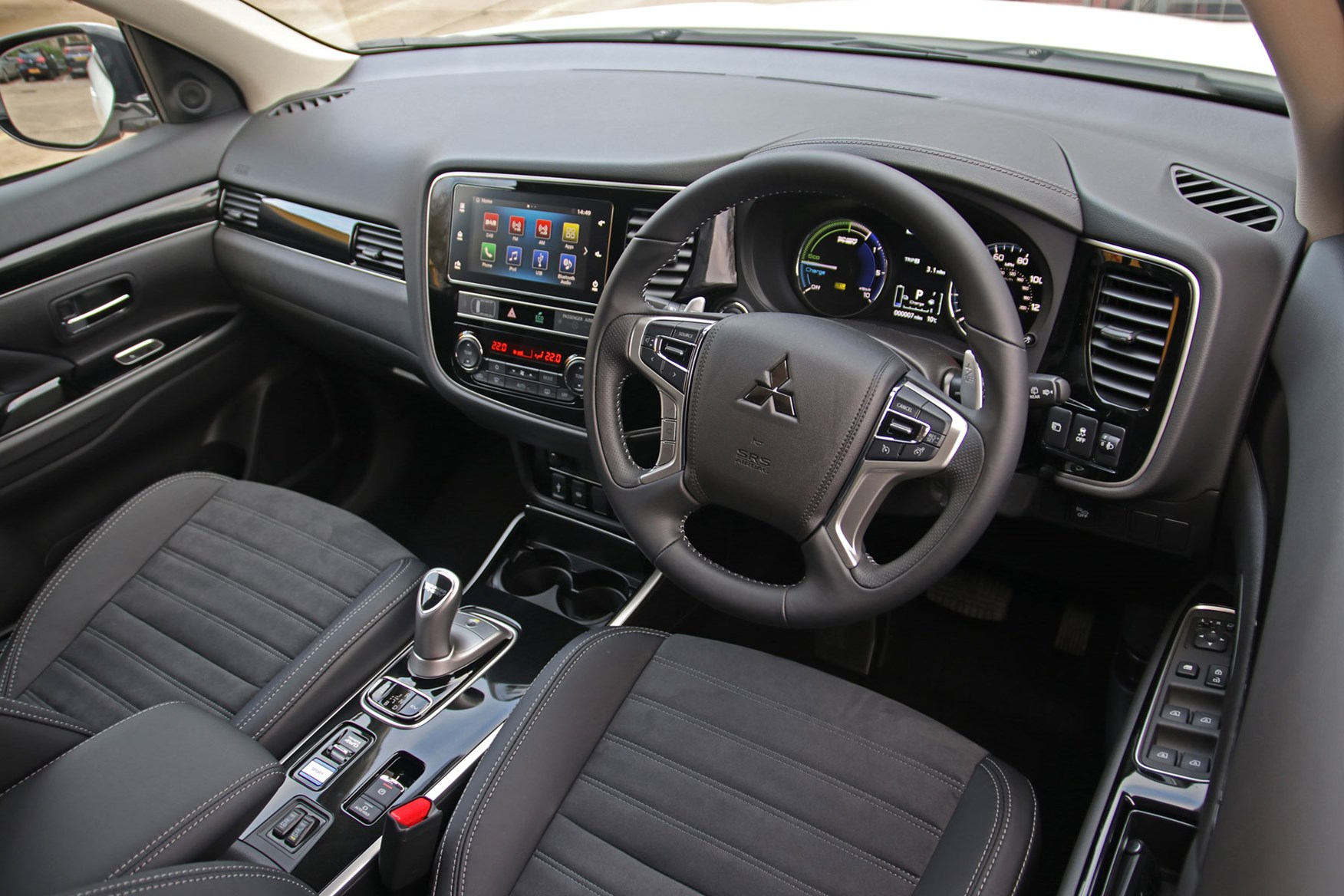 Mitsubishi Outlander Commercial 4x4 van review - cab interior, dashboard, steering, infotainnment system