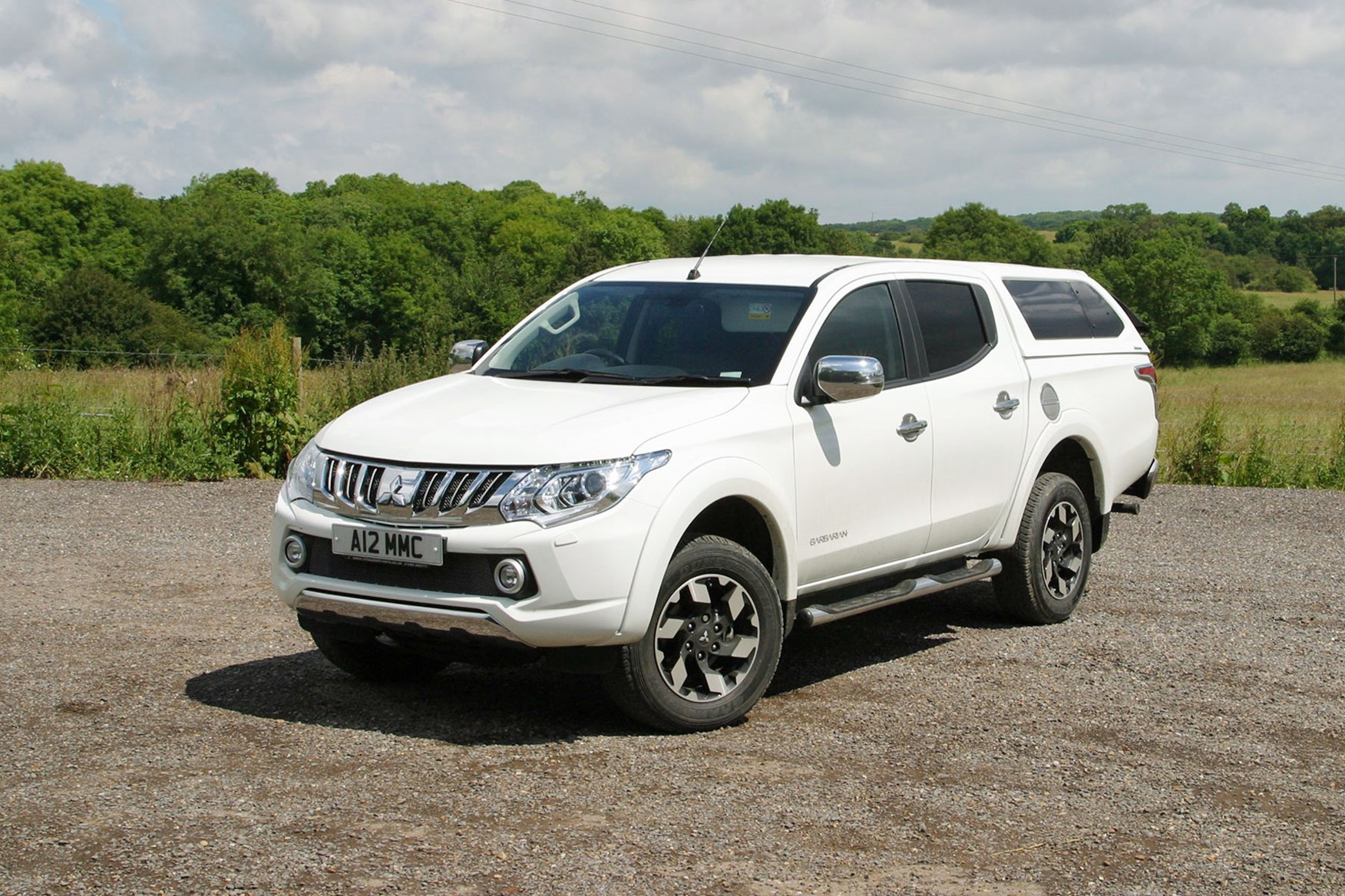 Mitsubishi L200 review, white, front view, with hardtop