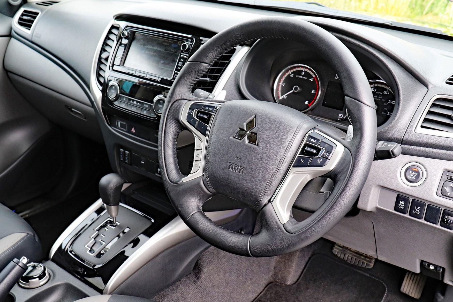Mitsubishi L200 Barbarian SVP review - cab interior, dashboard, steering wheel