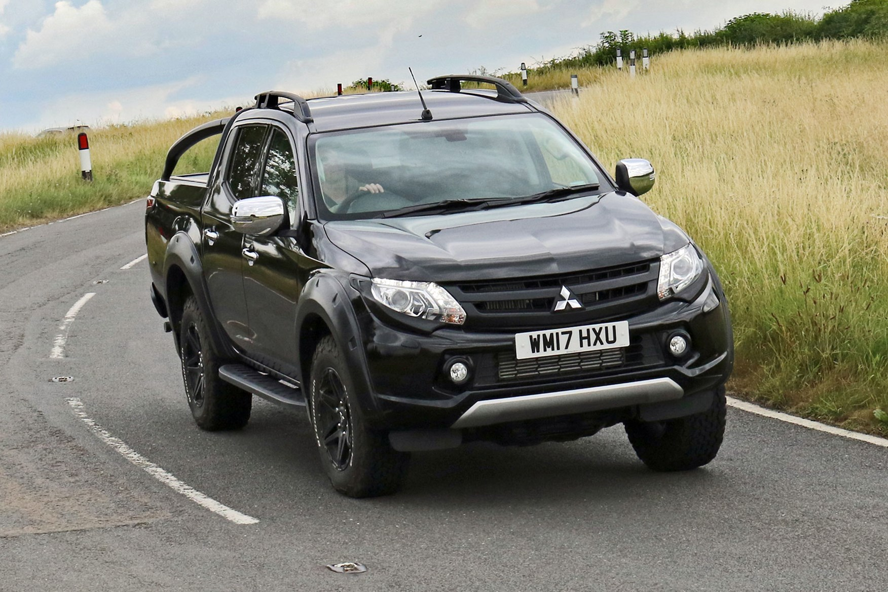 Mitsubishi L200 Barbarian SVP review - front view, driving on country road