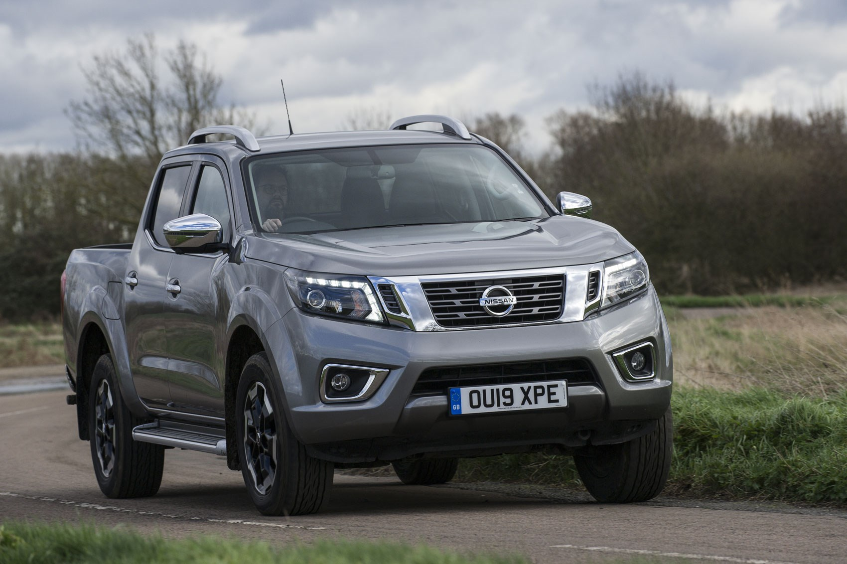 Nissan Navara review, 2019 update model, front view, driving