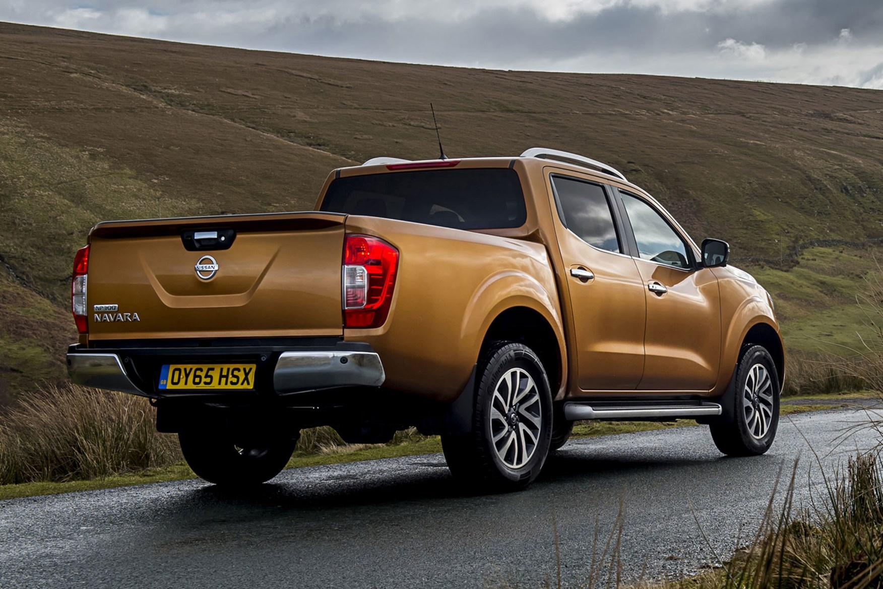 Nissan Navara review - rear view, orange