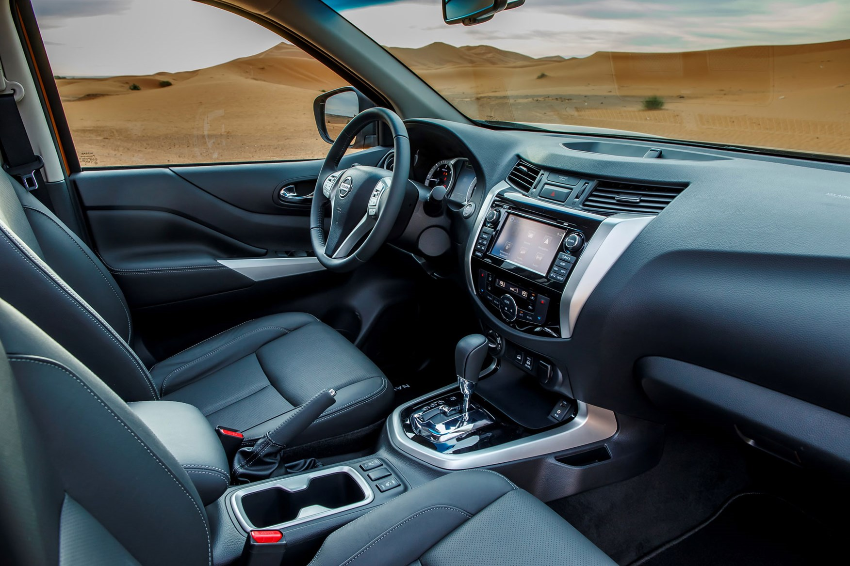 Nissan Navara Tekna review - cab interior, steering wheel, dashboard