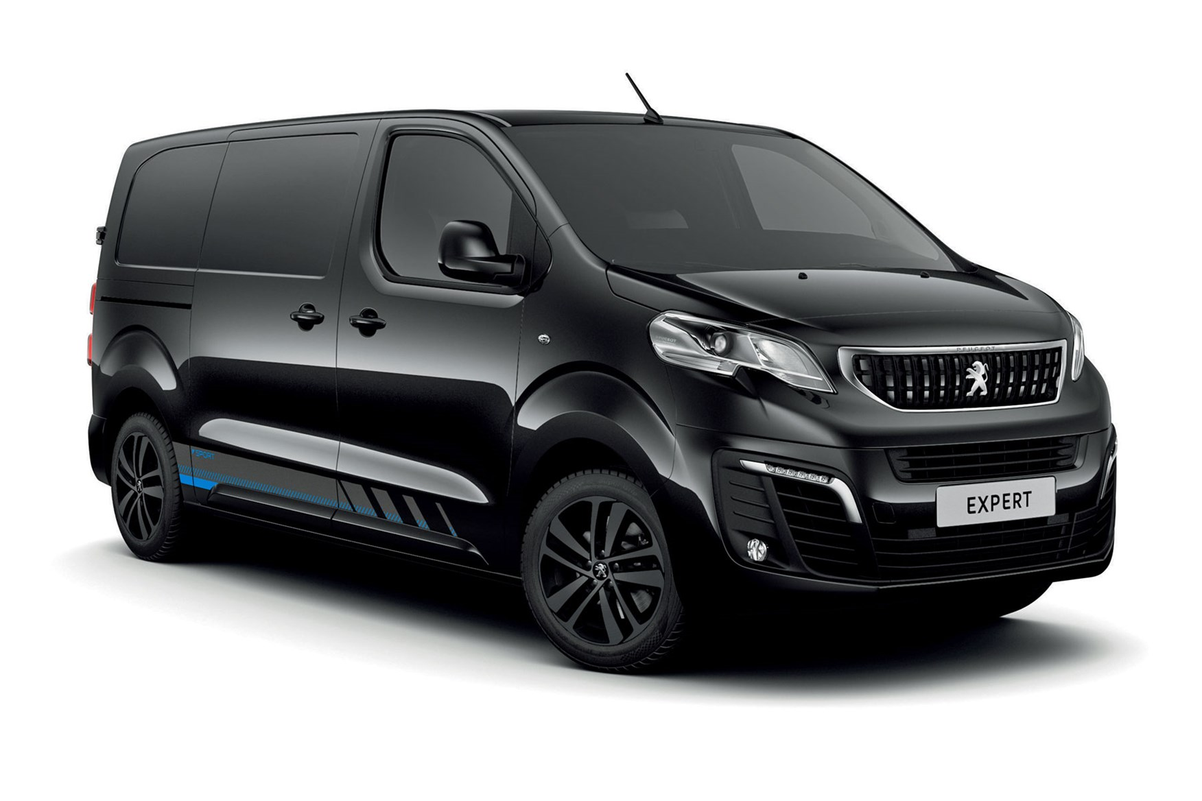 Peugeot Expert Sport Edition, front view, black, 2020