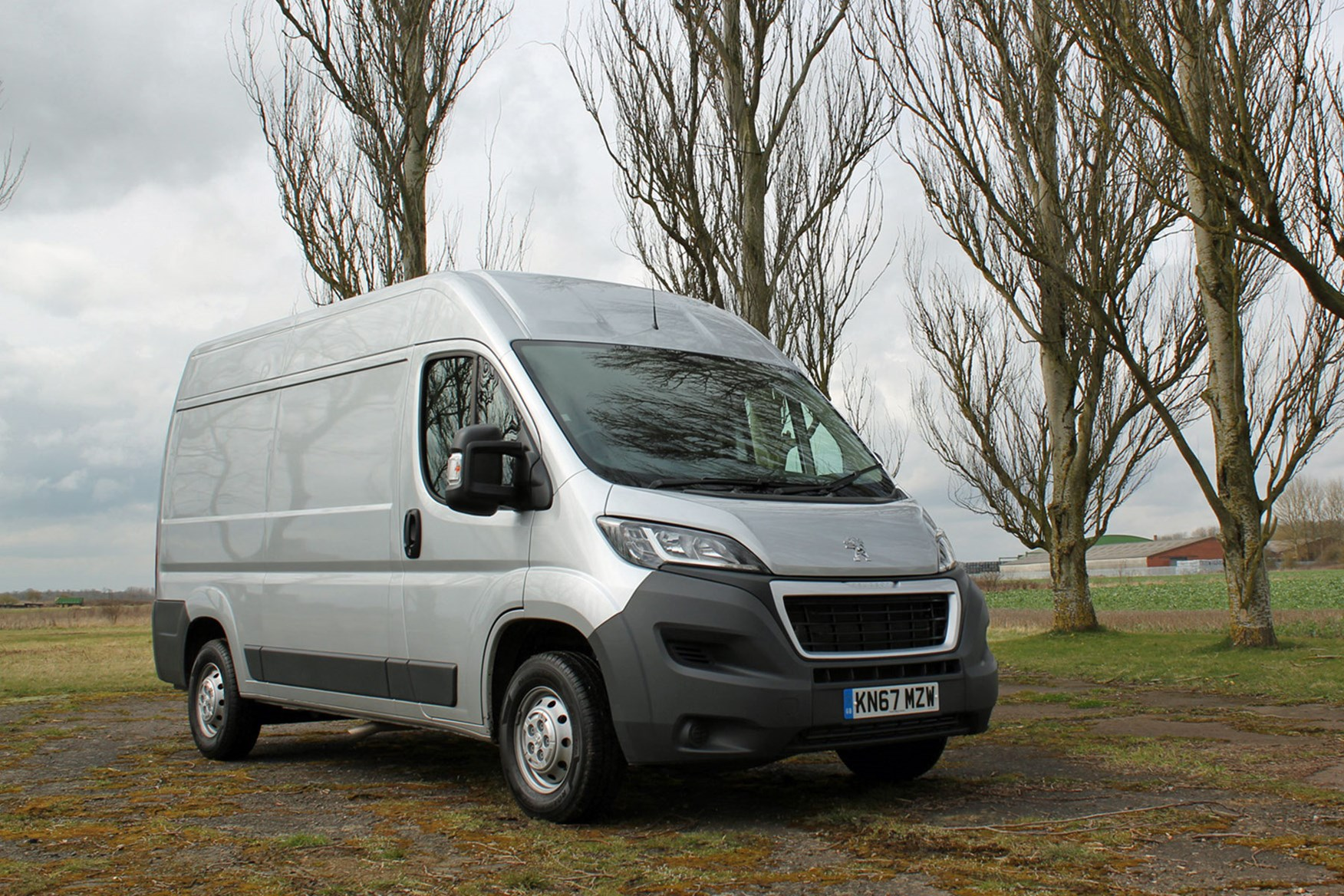 Silver 2017 Peugeot Boxer front view