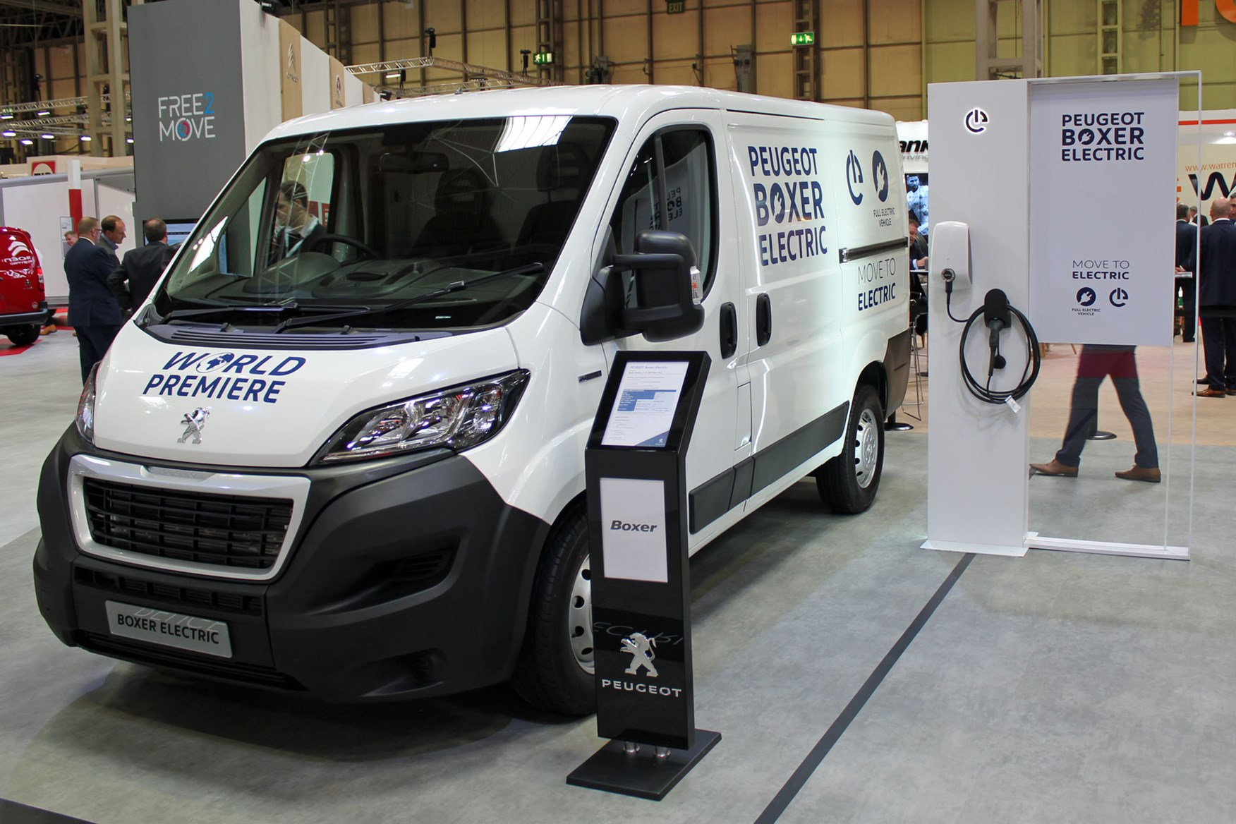 White 2020 Peugeot Boxer Electric at the CV Show 2019