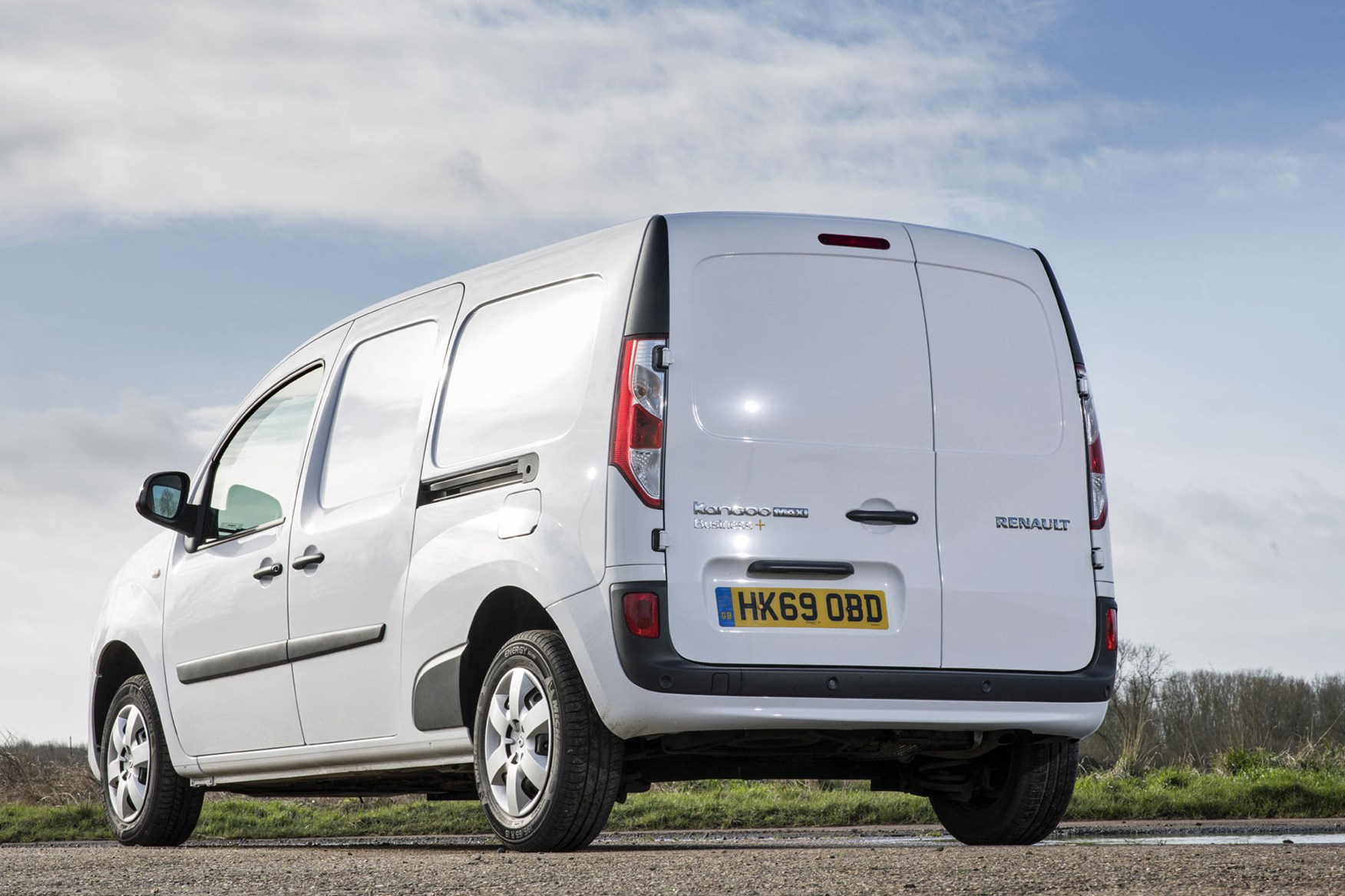 Renault Kangoo van review - rear view, white, 2020