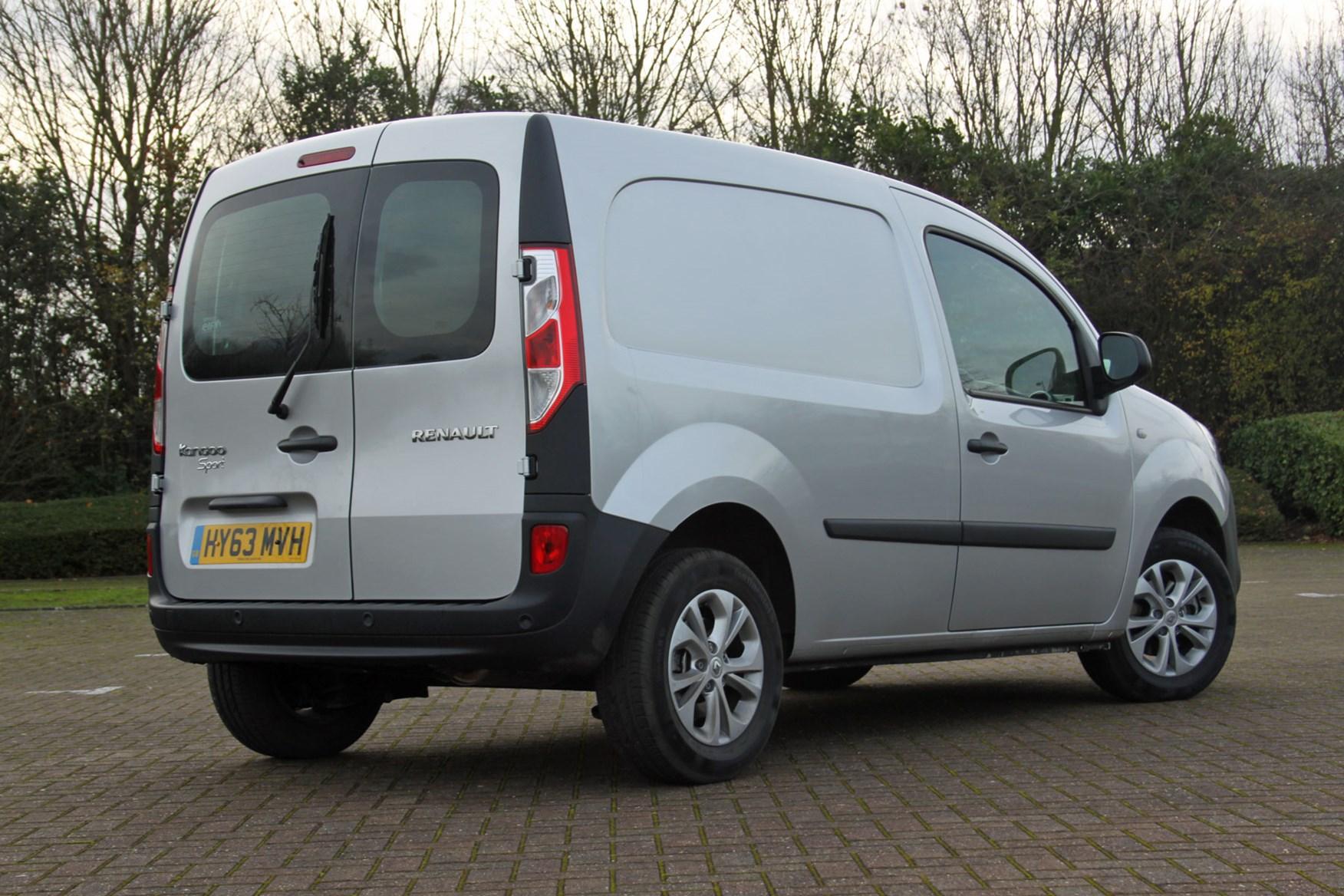 Renault Kangoo Sport review - rear view, silver