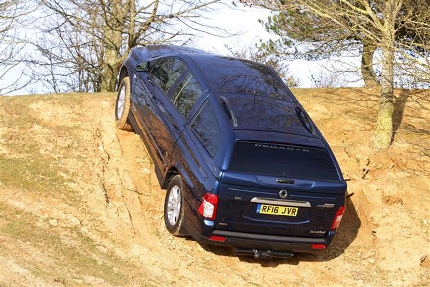 SsangYong Korando Sports review on Parkers Vans - off-road capabilities