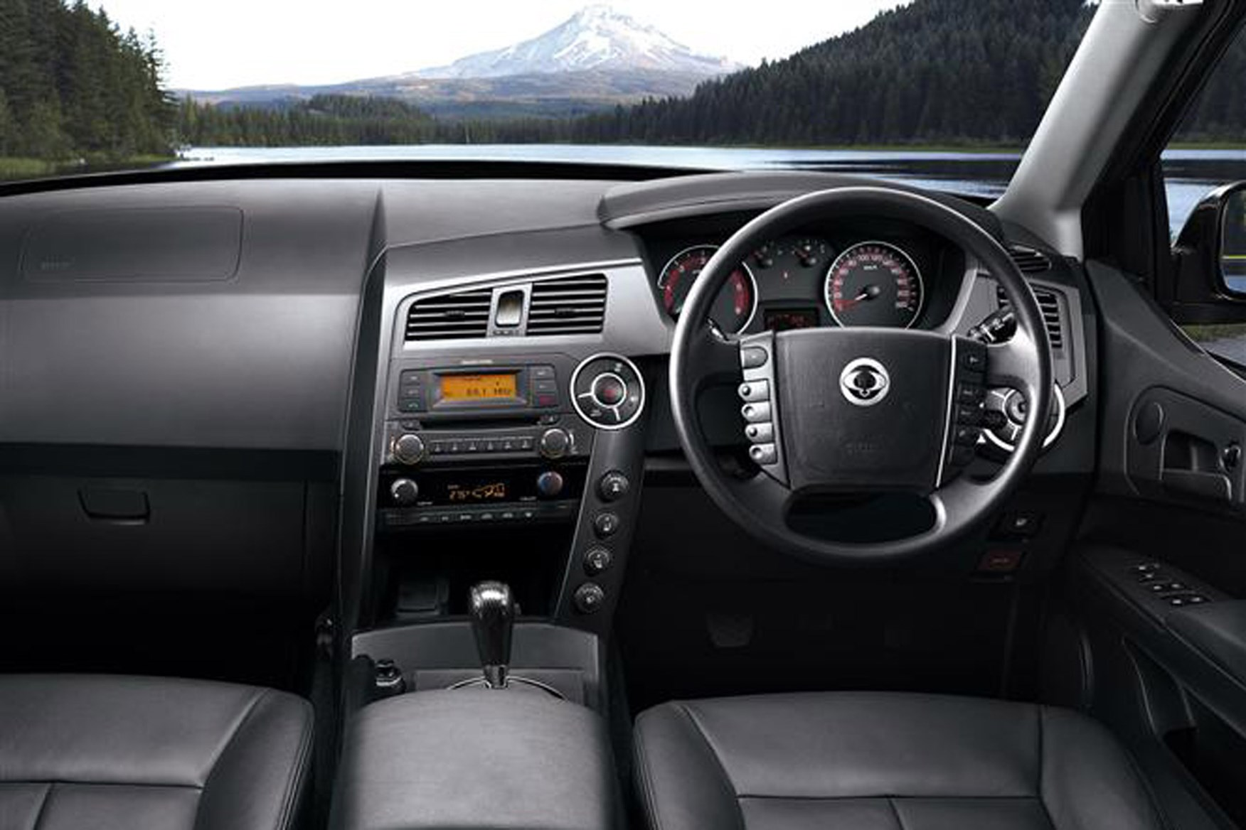 SsangYong Korando Sports review on Parkers Vans - interior