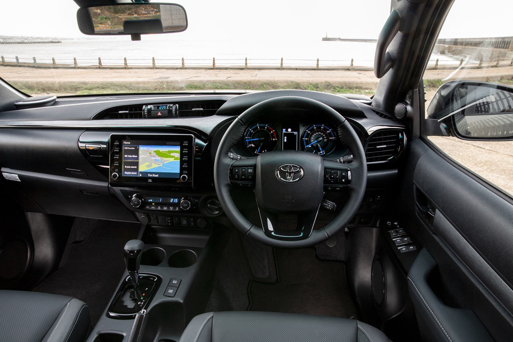 Toyota Hilux review, 2020 facelift, cab interior, driving position