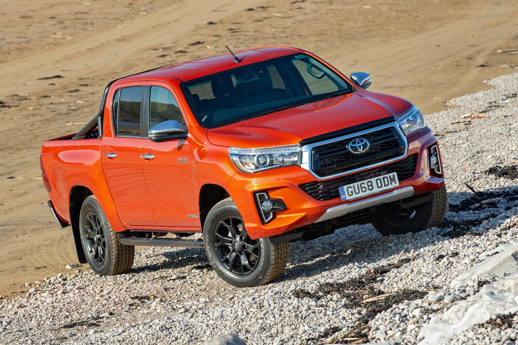 Toyota Hilux Invincible X review - front view, orange