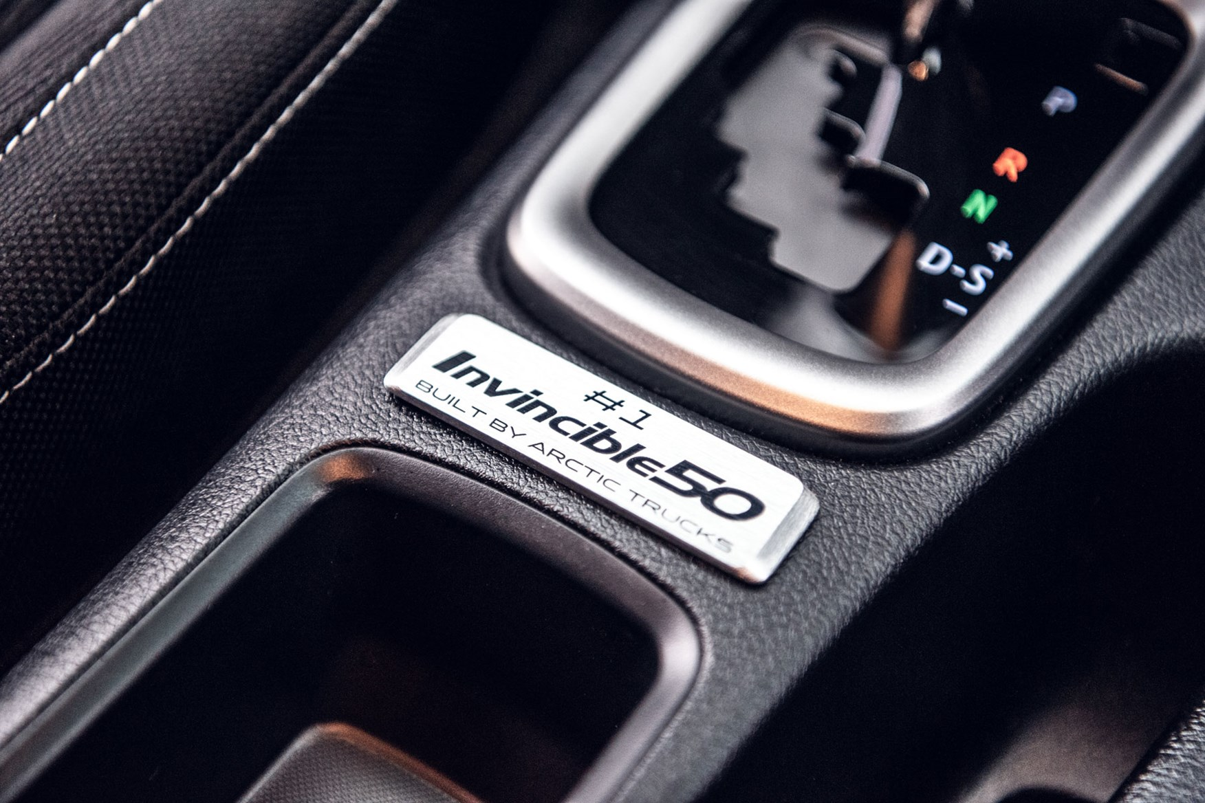 Toyota Hilux Invincible 50 review - numbered plaque on the centre console