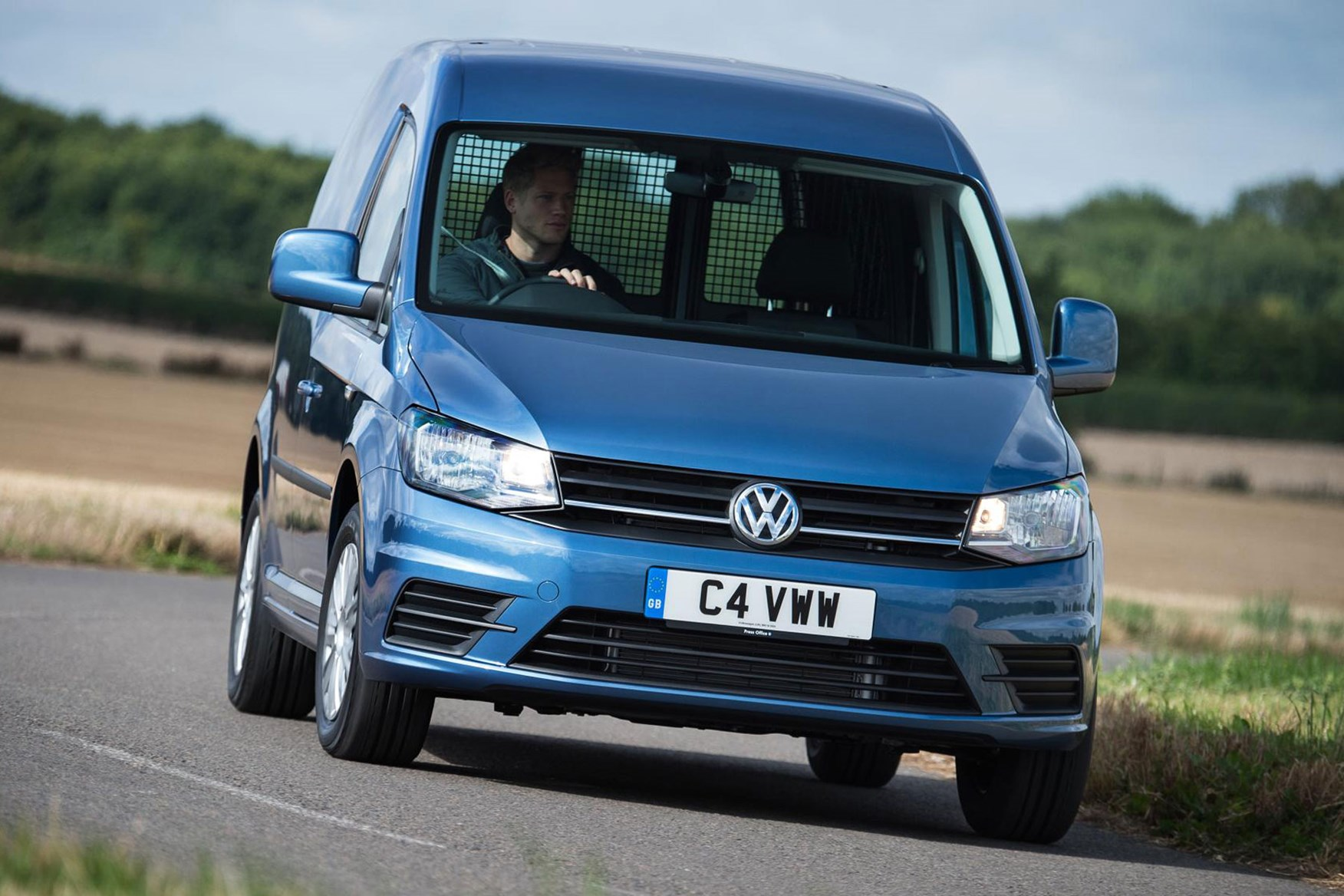 VW Caddy driving
